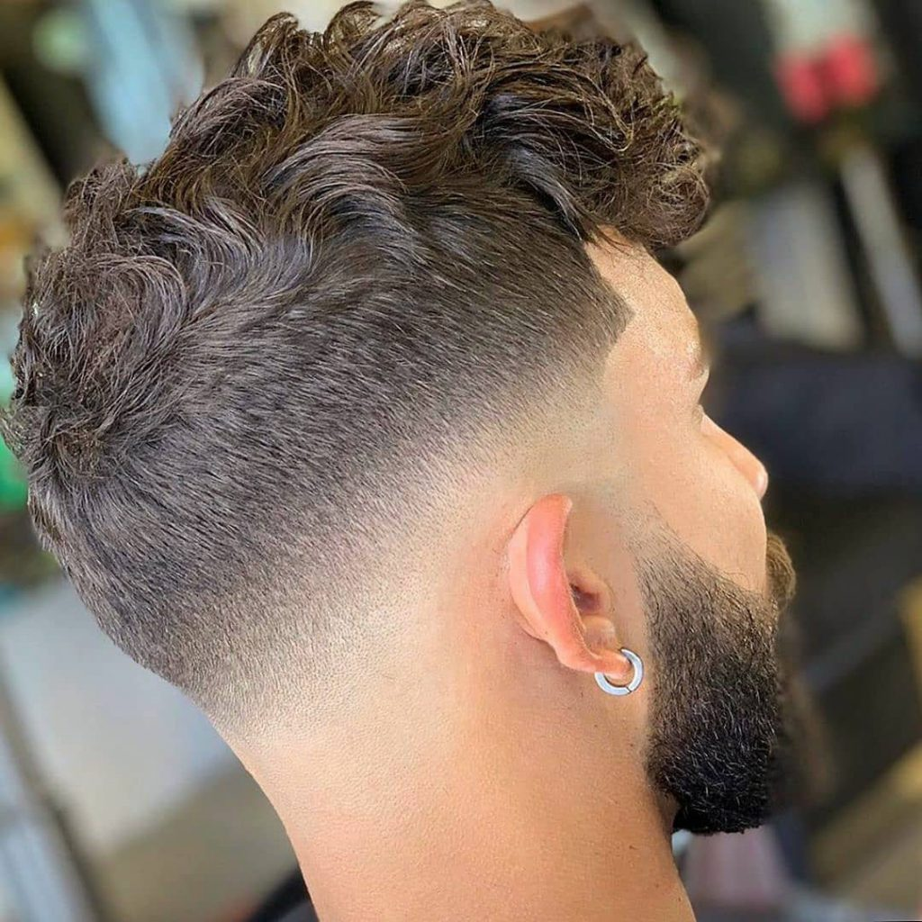 Drop Fade + Curly Hair