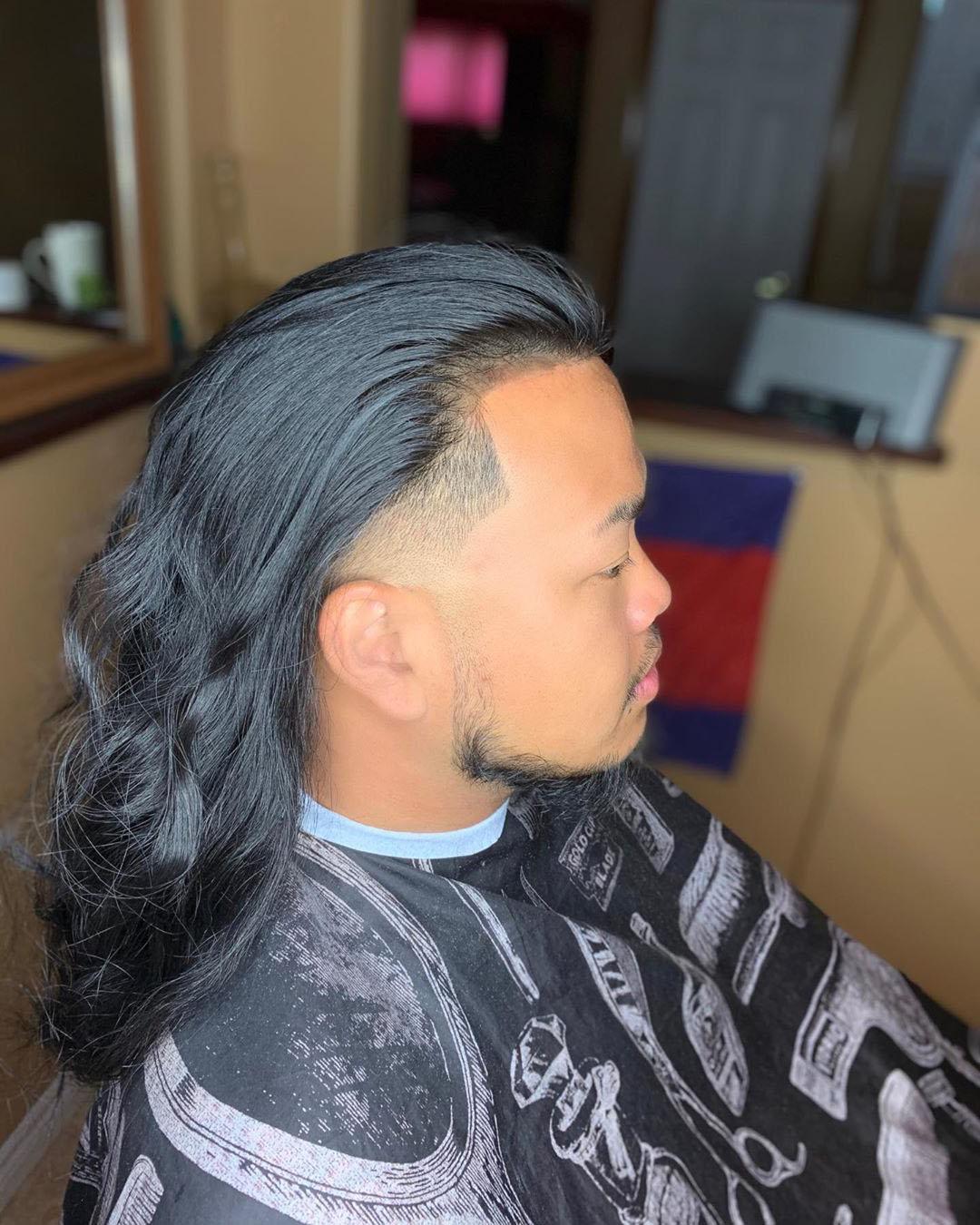 Drop Fade + Long Hair