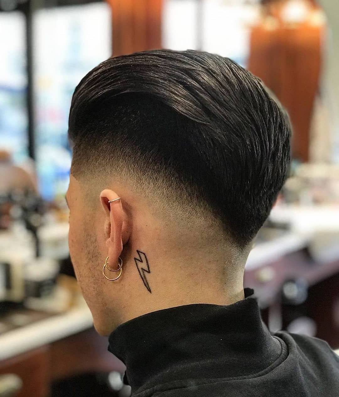 Drop Fade + Straight Hair