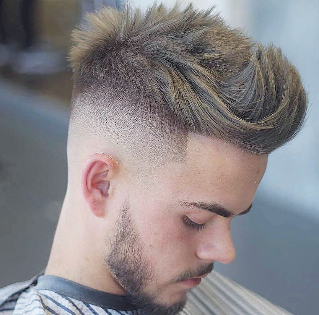 Faux Hawk Haircut with Beard