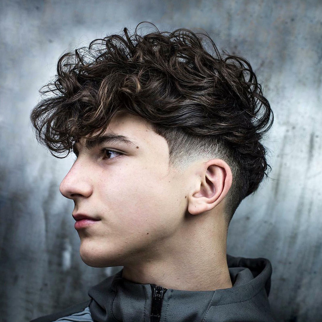 Low Fade + Curly Hair