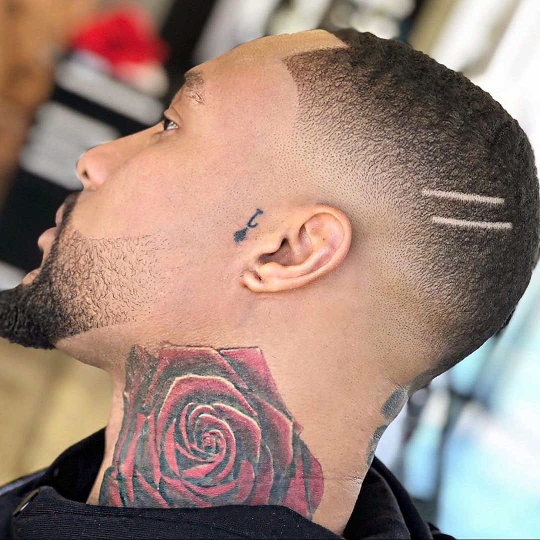 Low Fade Haircut for Black Guys