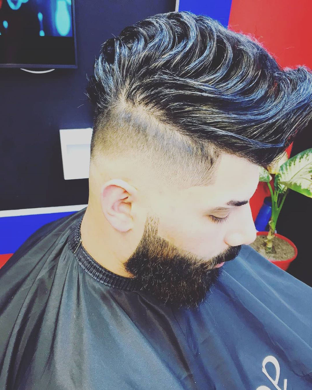 Low Fade + Long Hair