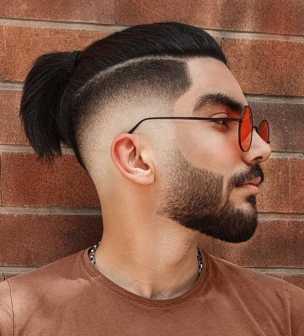 Low Fade + Man Bun