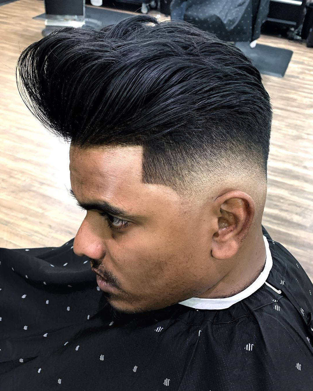 Low Fade + Pompadour