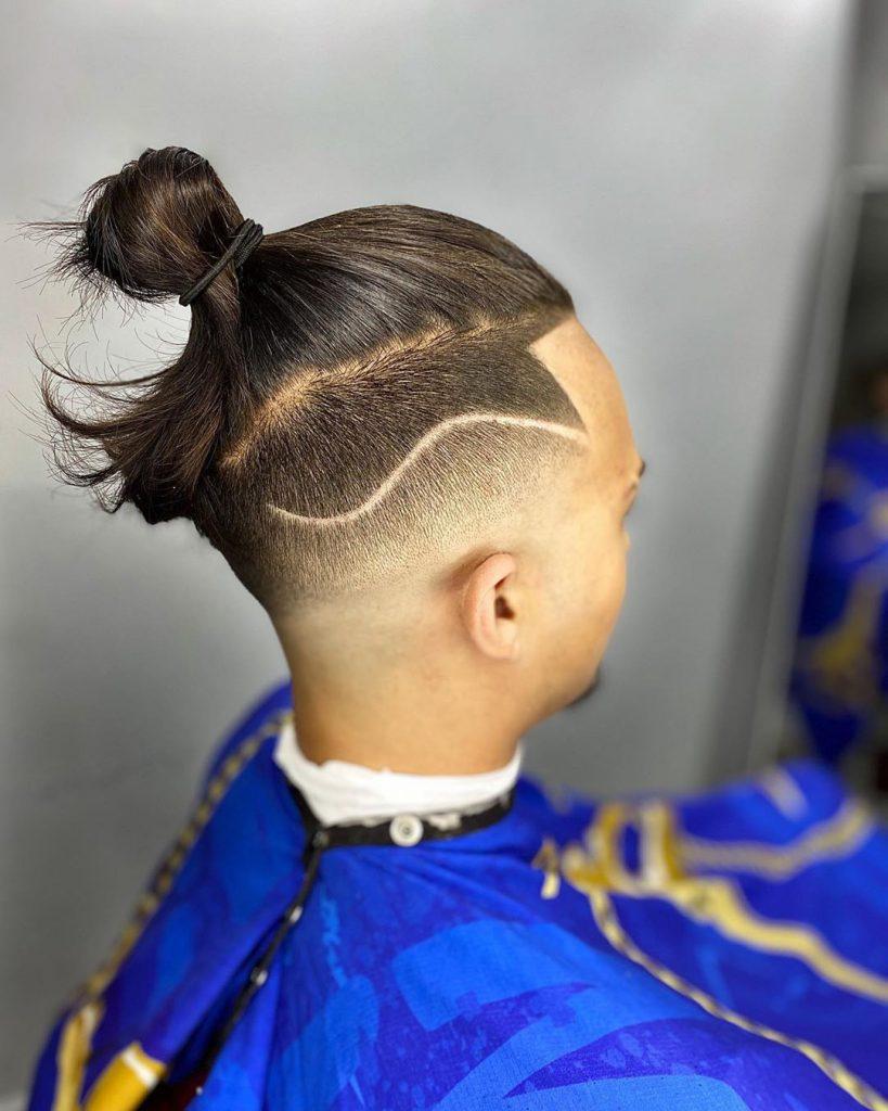 Man Bun + Bald Fade