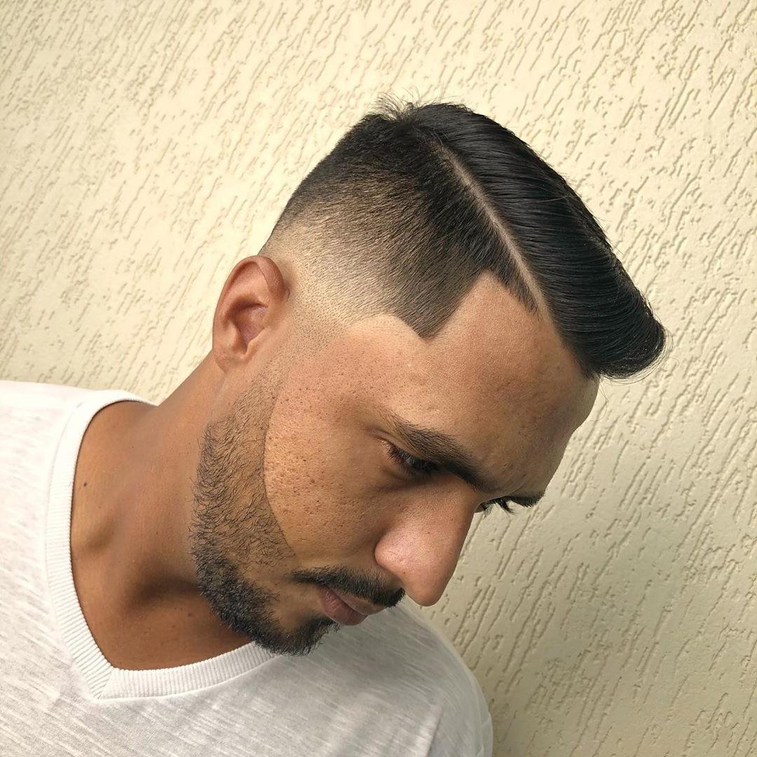 Medium Fade + Comb Over
