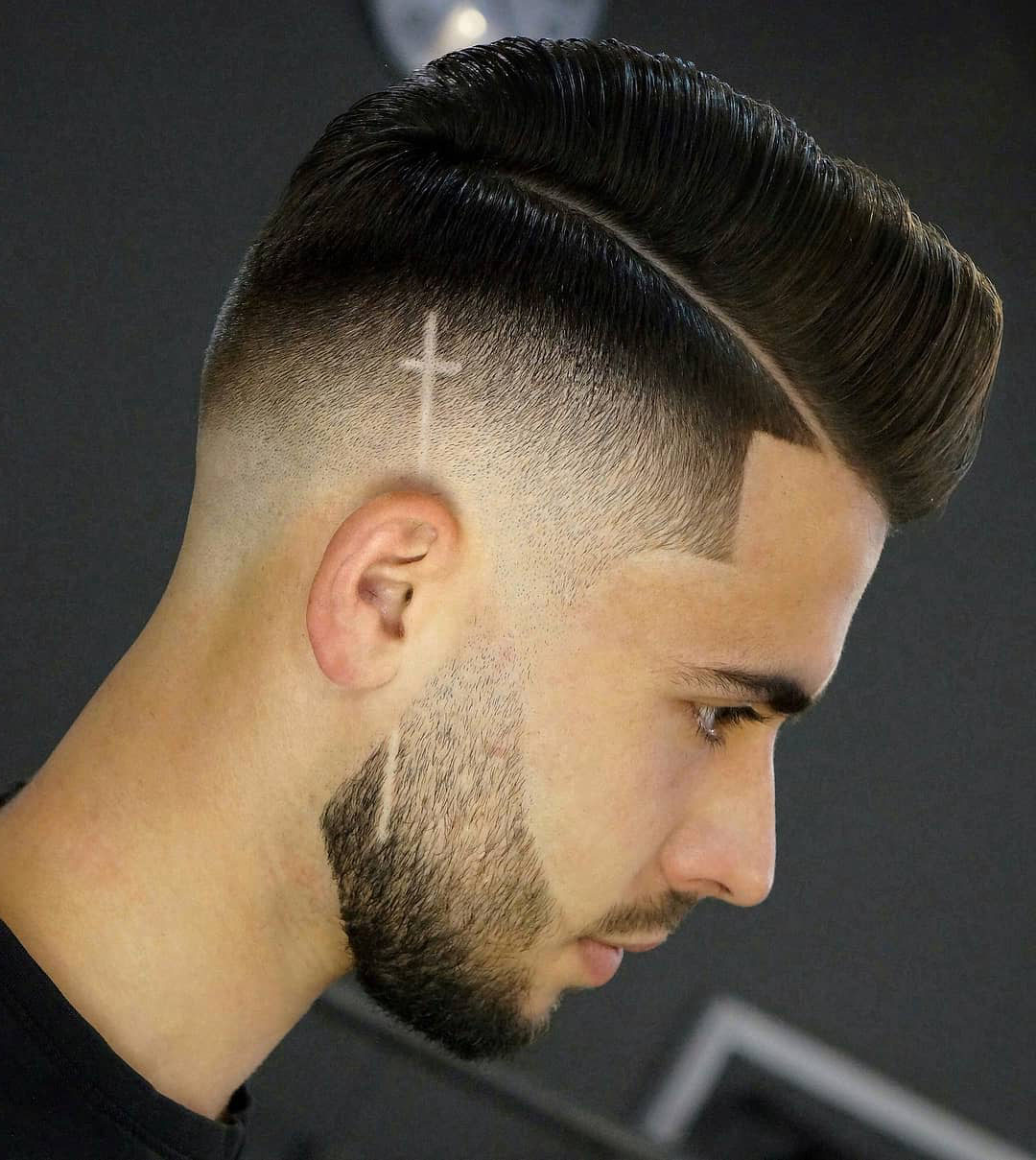 Mexican Hairstyle with Long Cross Design