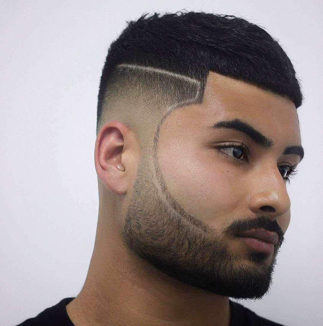 Mexican Low Taper Fade Hairstyle for Guys - side view