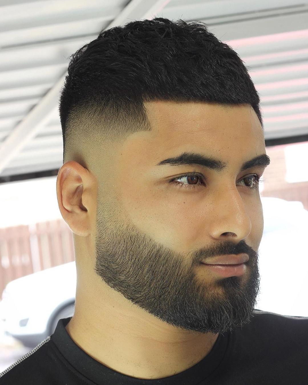 Mid Fade + Black Hair
