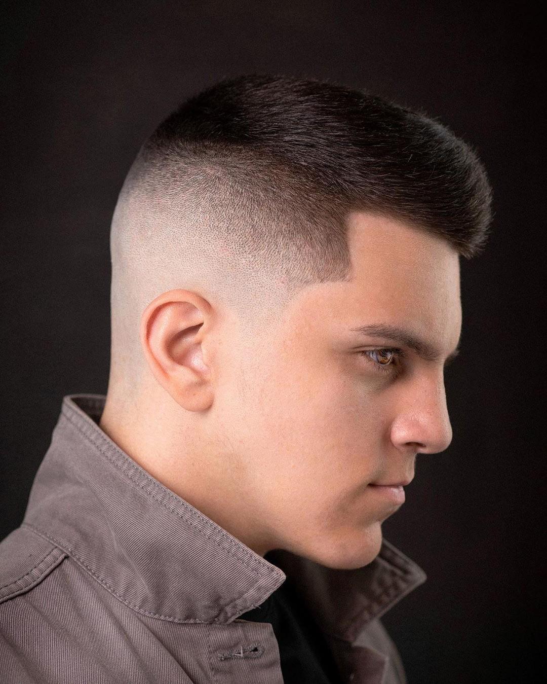 Mid Fade + Short Hair