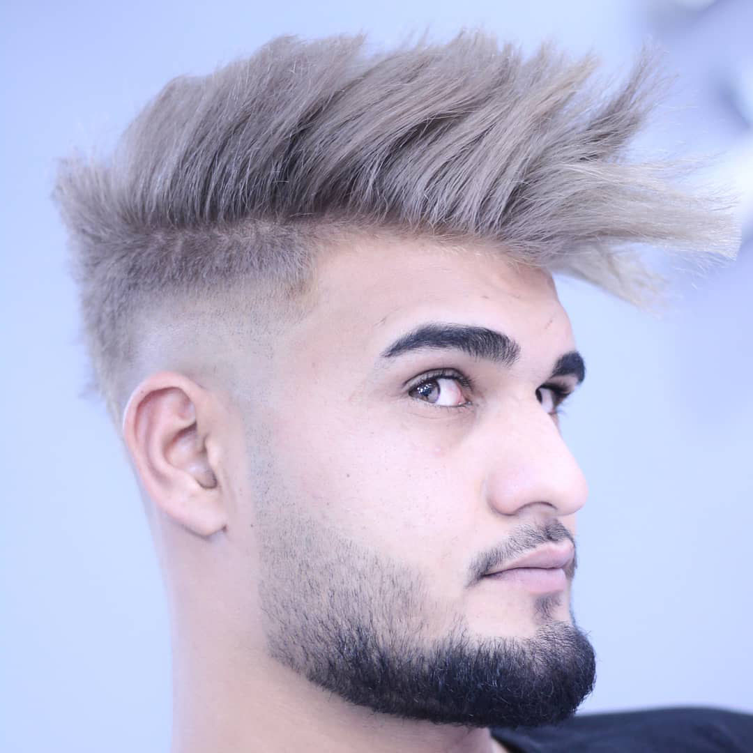 Mohawk Hairstyle for Blonde Guys with Thick Hair