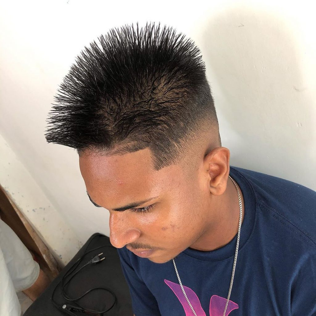 Sharp Taper Fade Hairstyle