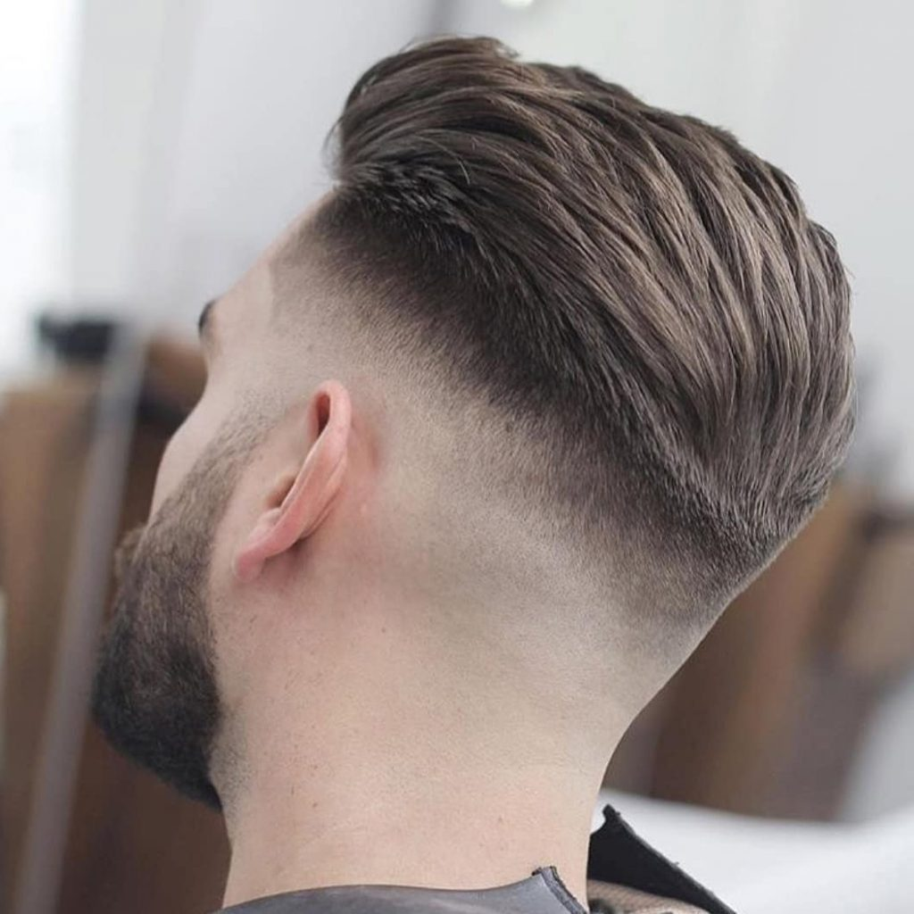 Slicked Back + Bald Fade