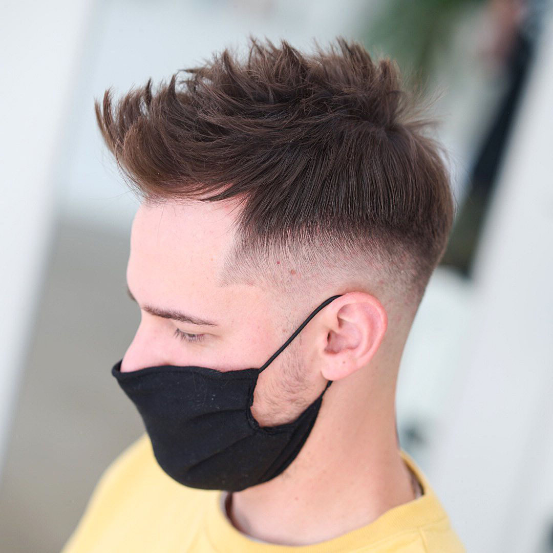 Spiky Hair Hairstyle with Protective Mask