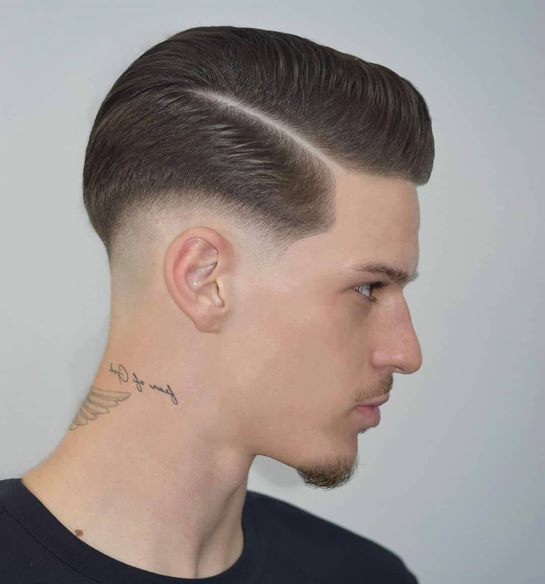 Taper Fade + Comb Over Haircut for Men