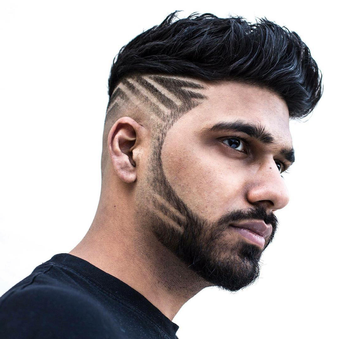 Taper Fade Haircut with Design