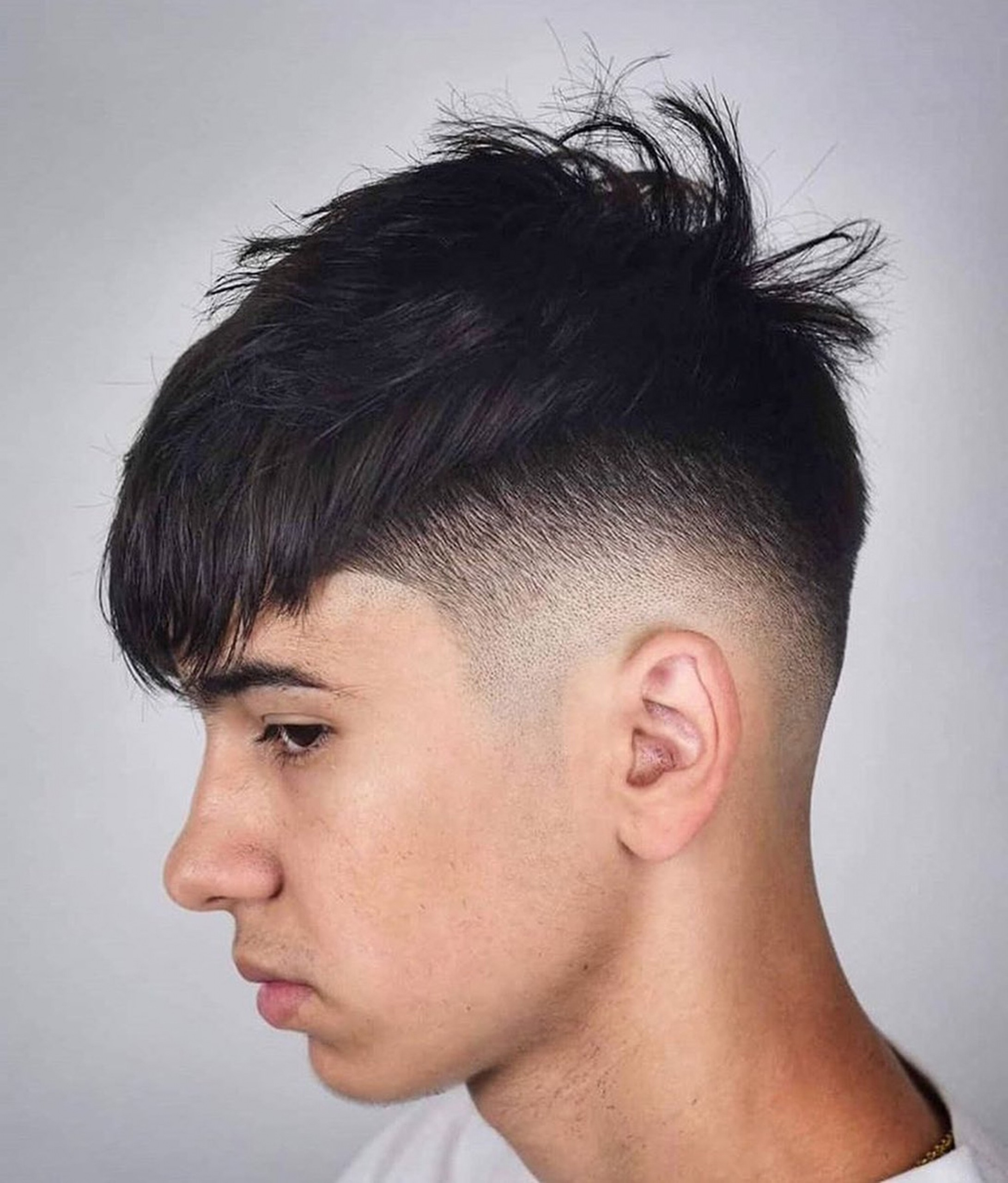 A taper fade haircut for boys.