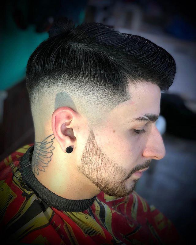 High Fade + Black Hair