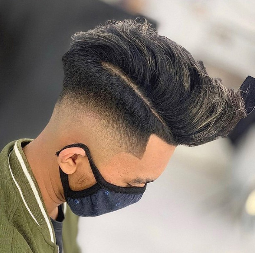 High Fade + Long on Top