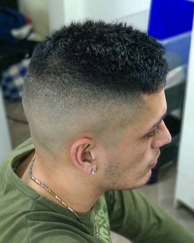 High Fade + Short Hair