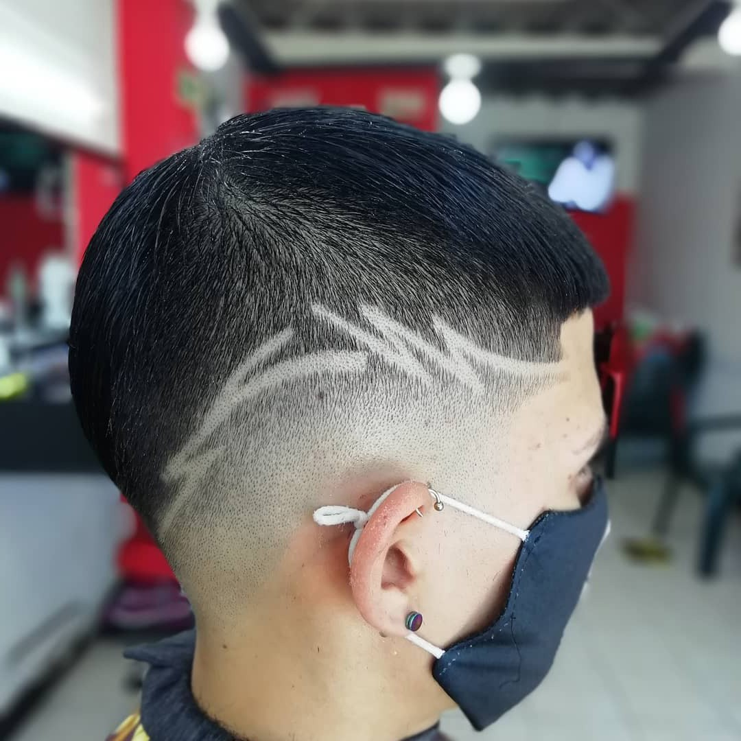 High Fade with Design