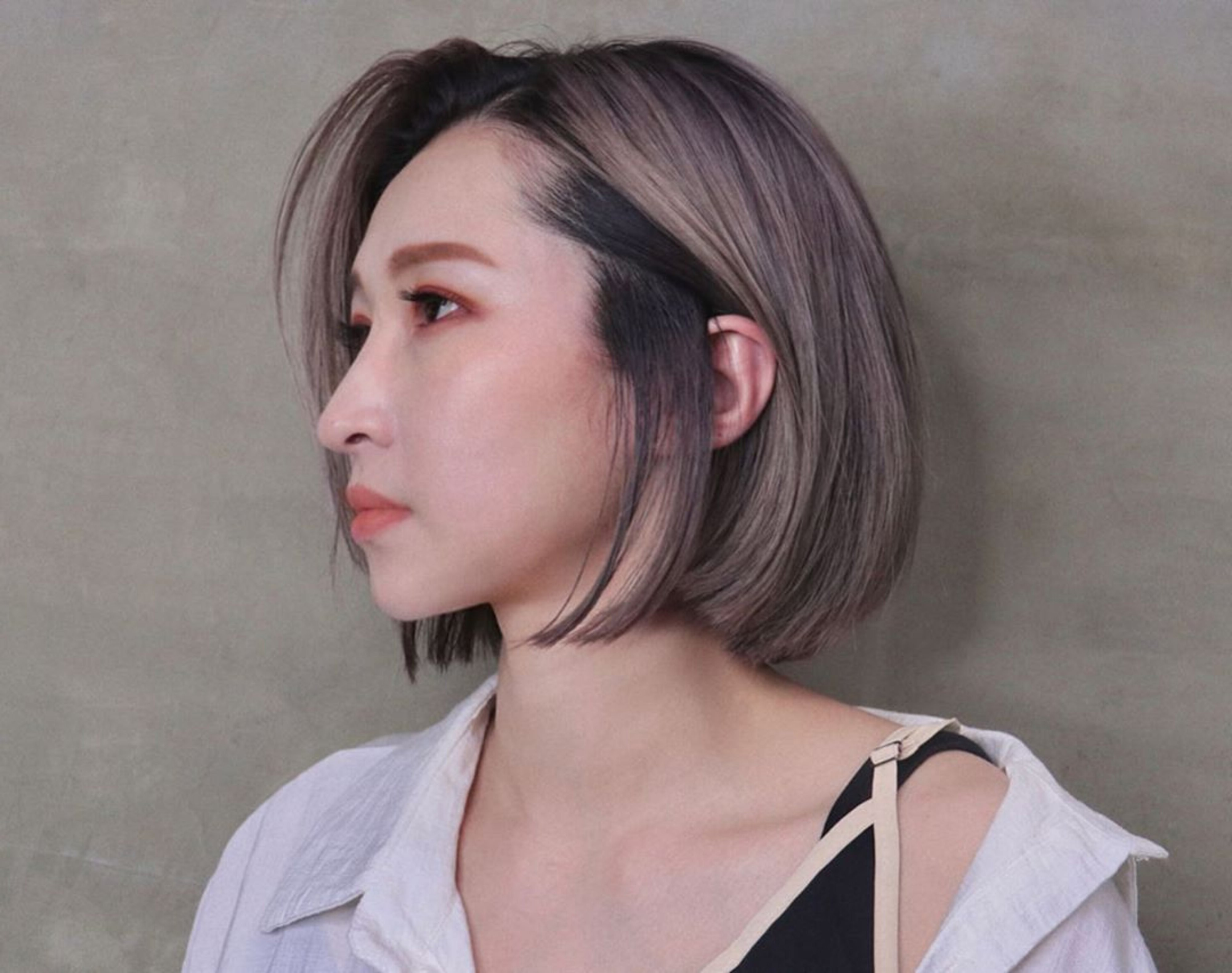 A trendy balayage pixie hair style.