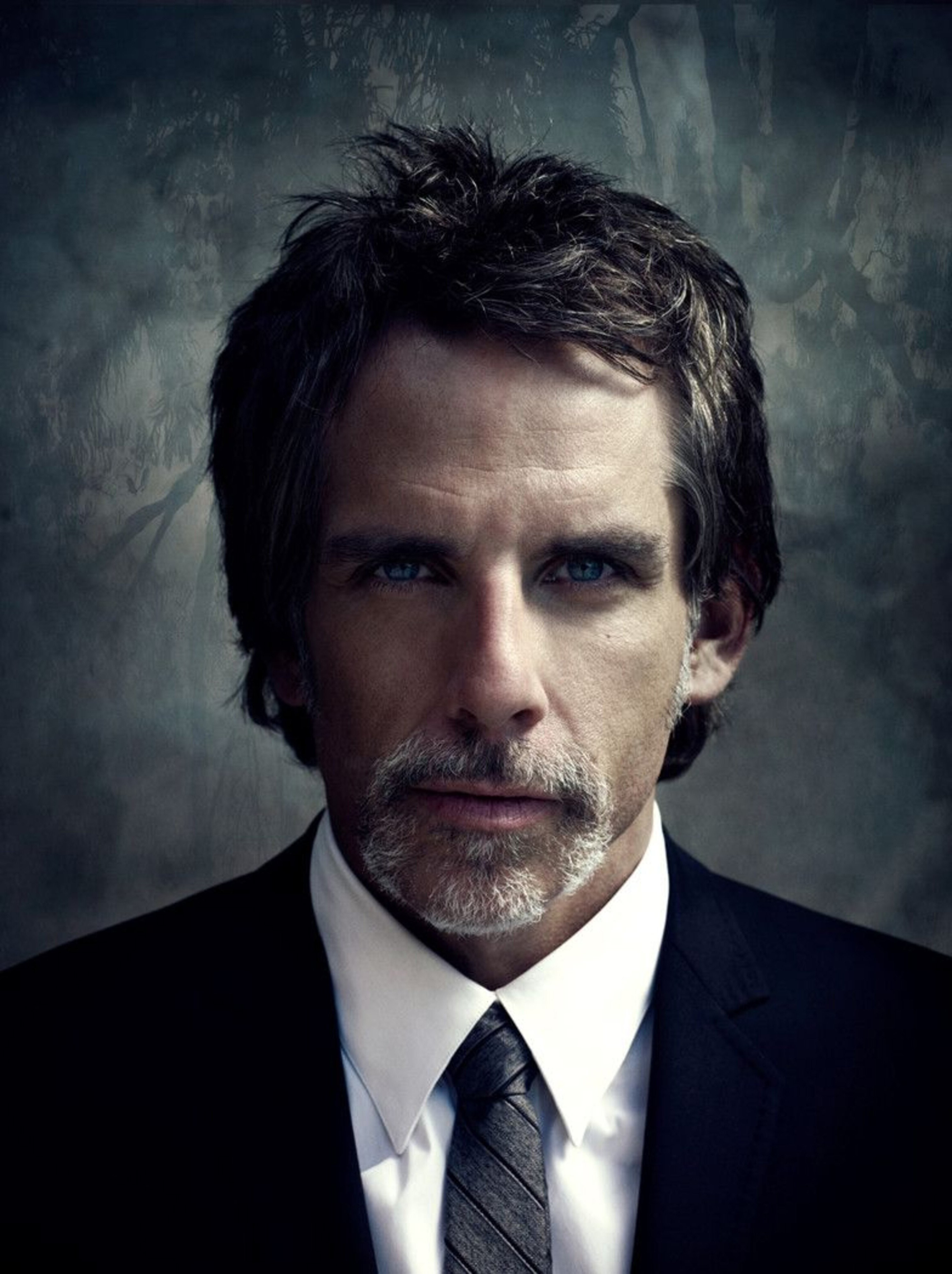 Ben Stiller's handlebar mustache style.
