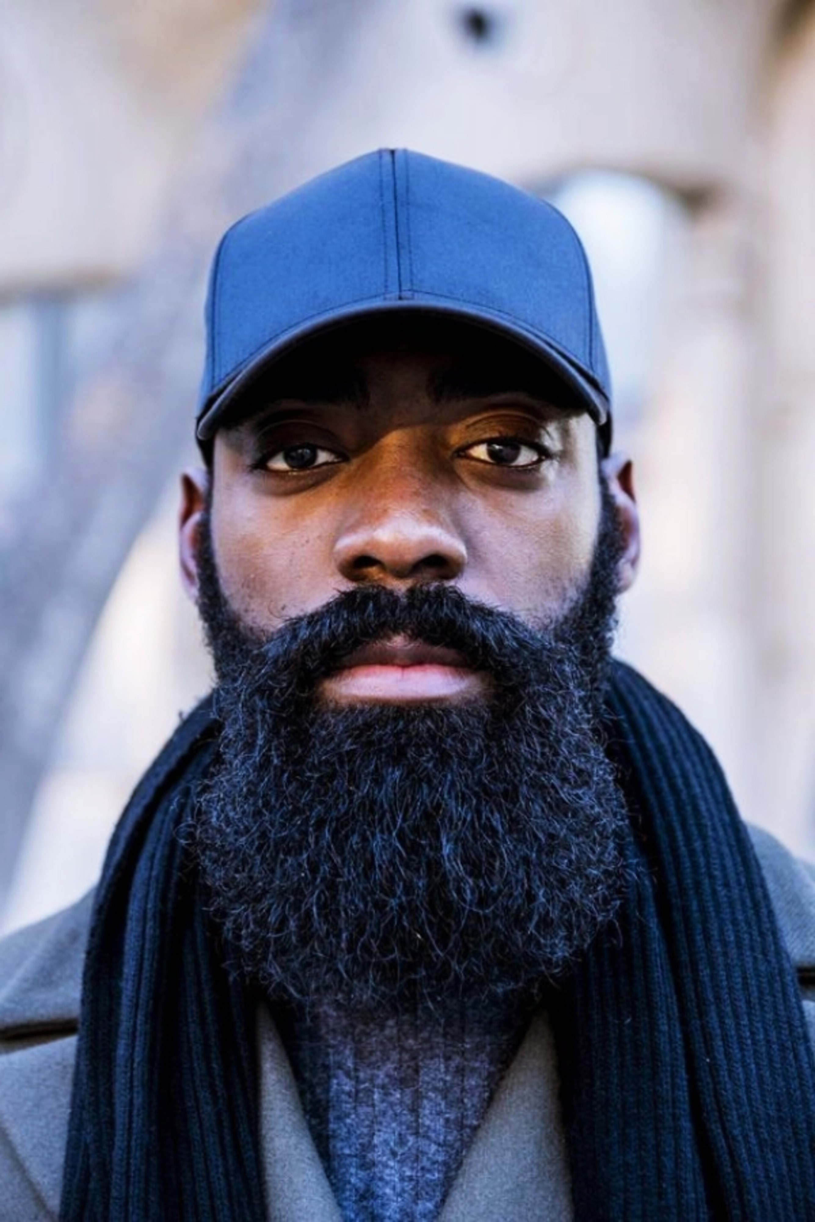 A Black Male with a Long Beard.