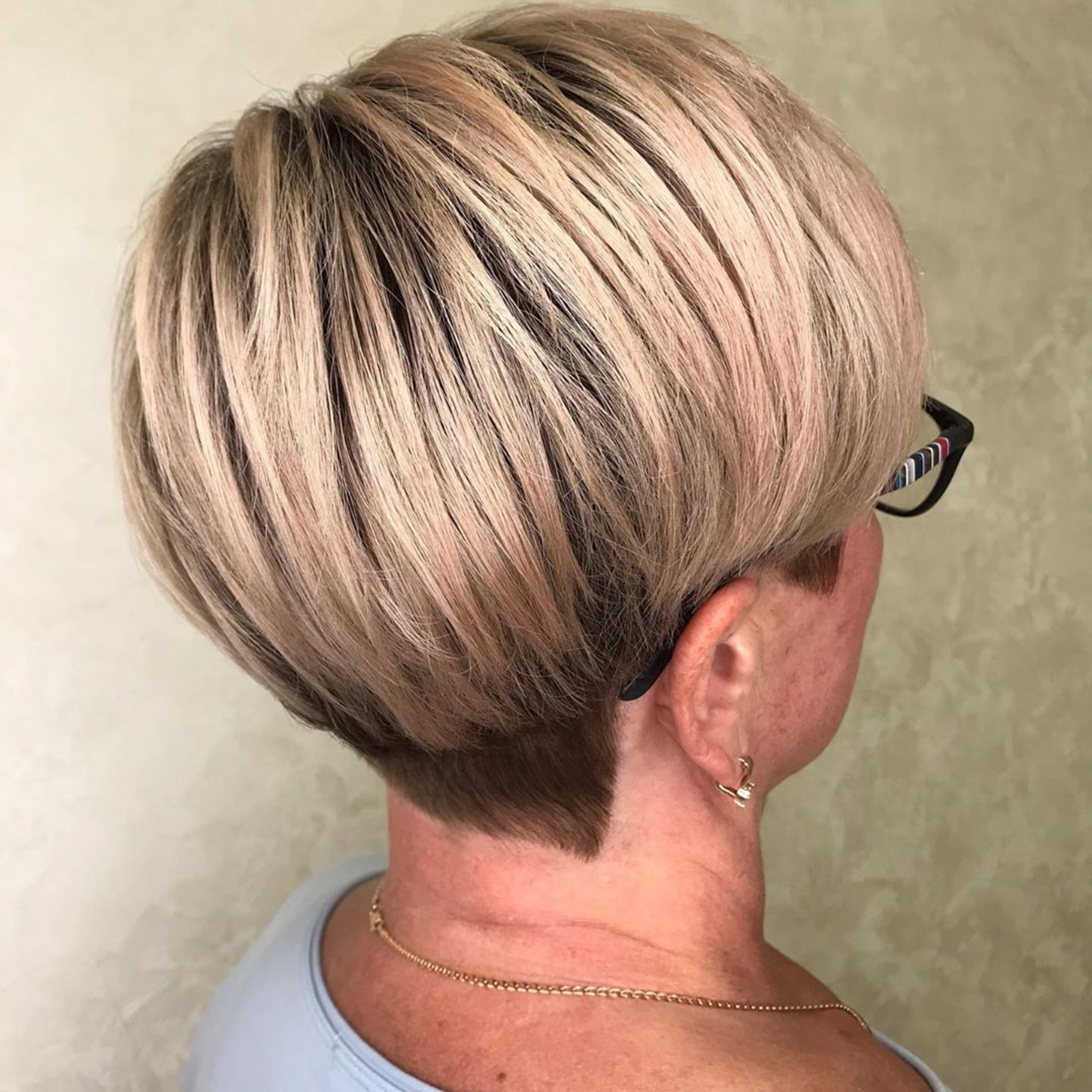 A bob haircut for females older than 60.