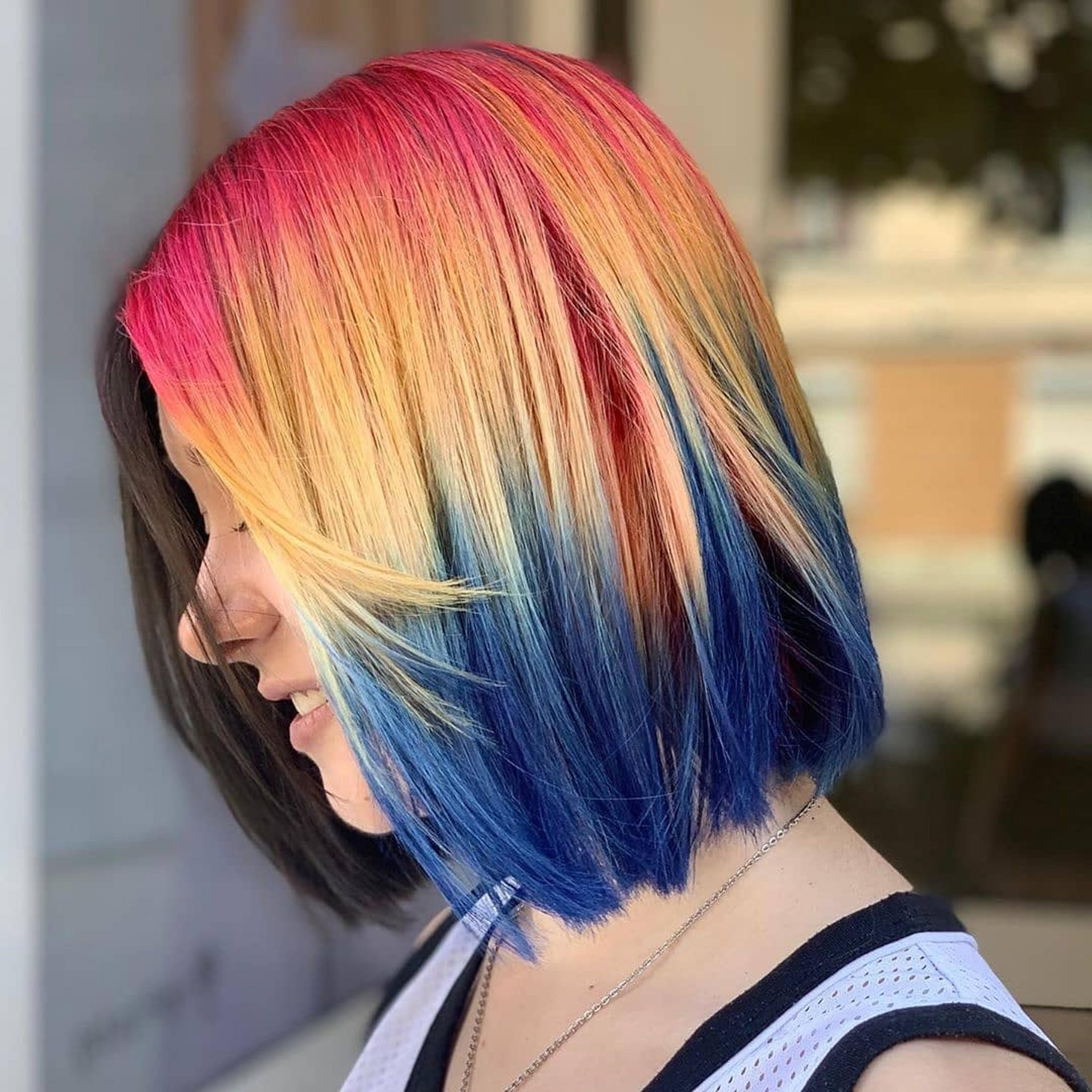 A cool bob haircut for teenagers.