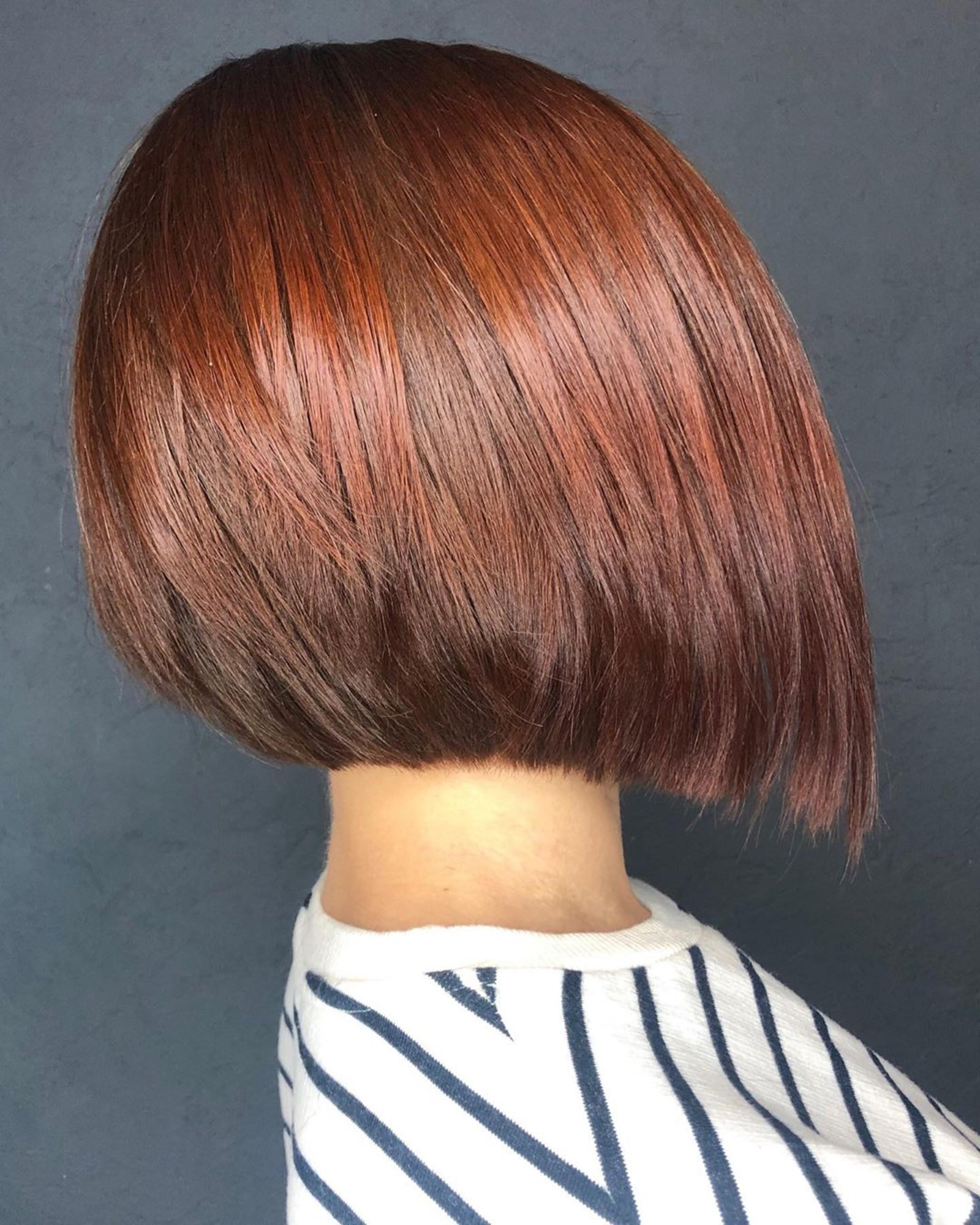 A bronde bob haircut.
