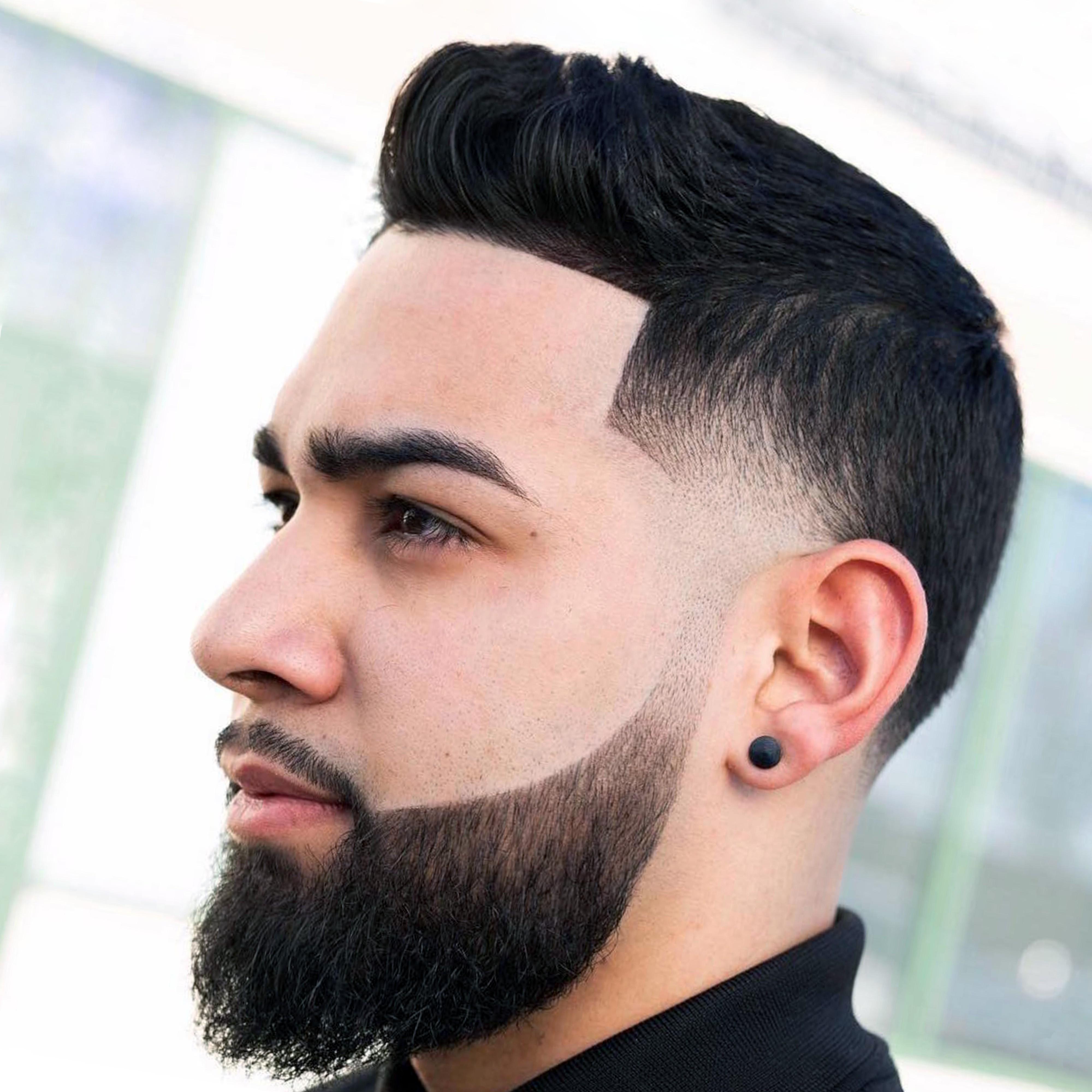 A faded long beard look.