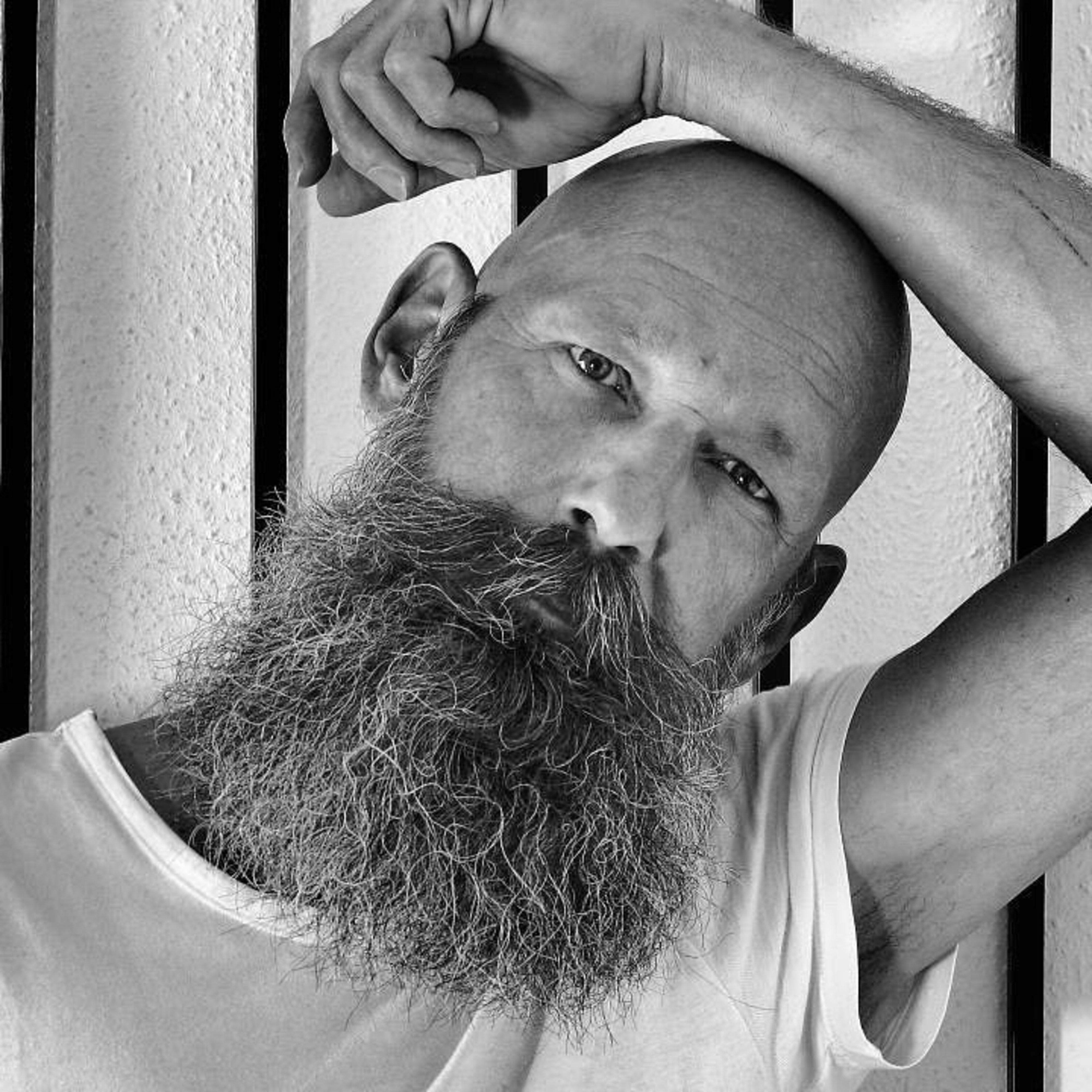 A long beard for the bald men.