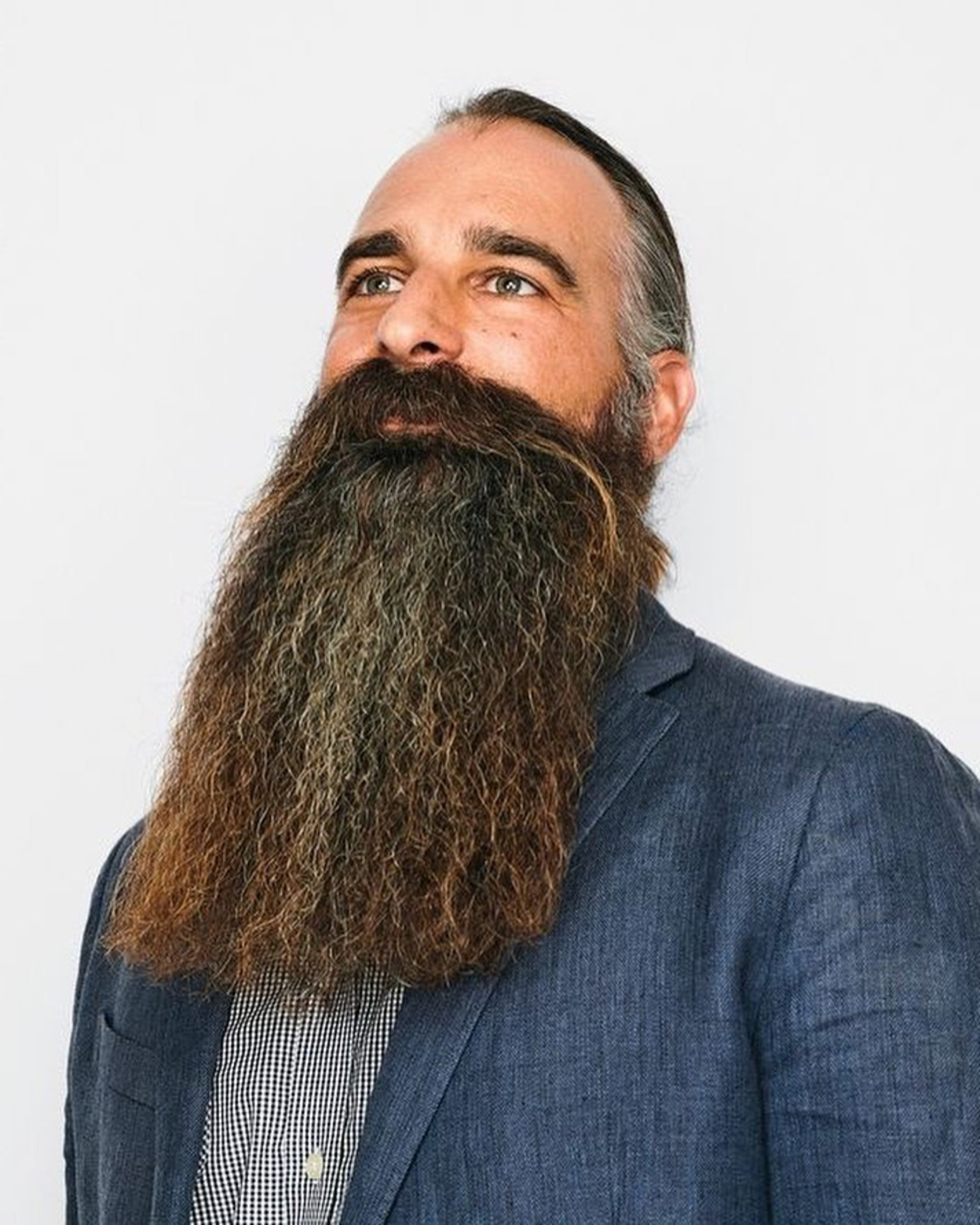 A long bushy beard for cool men.