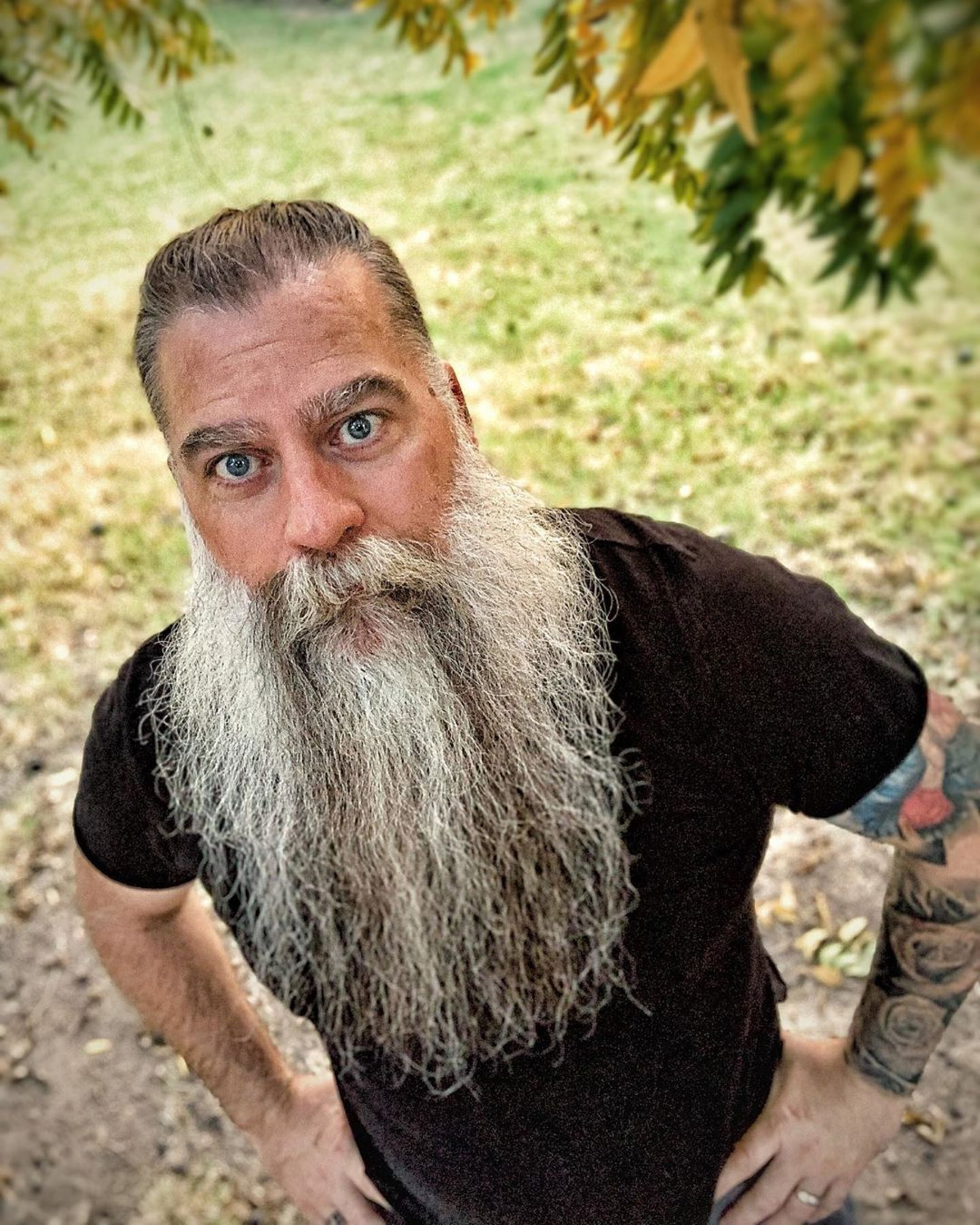 A long full beard style for males.