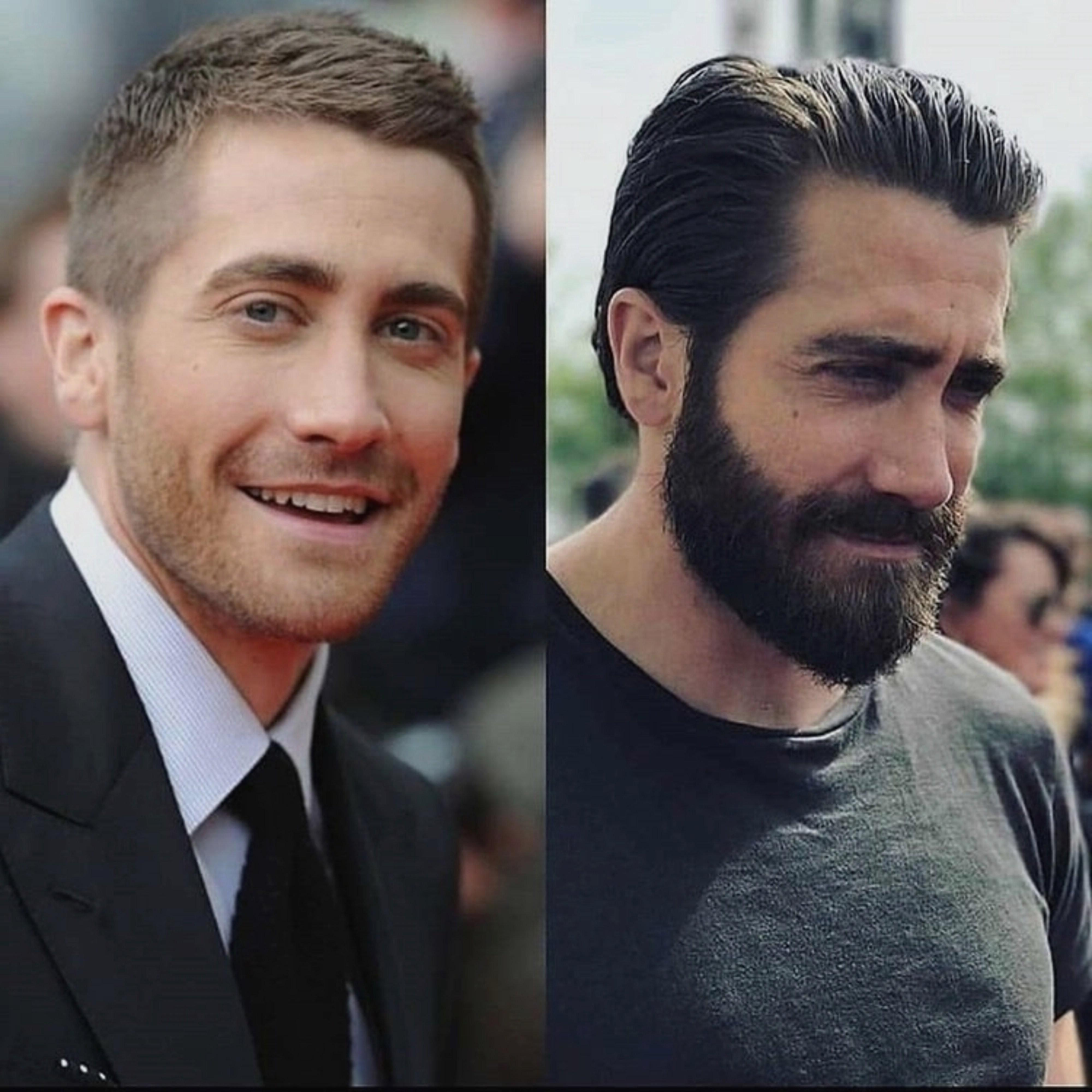 A long beard like men in Hollywood wear.