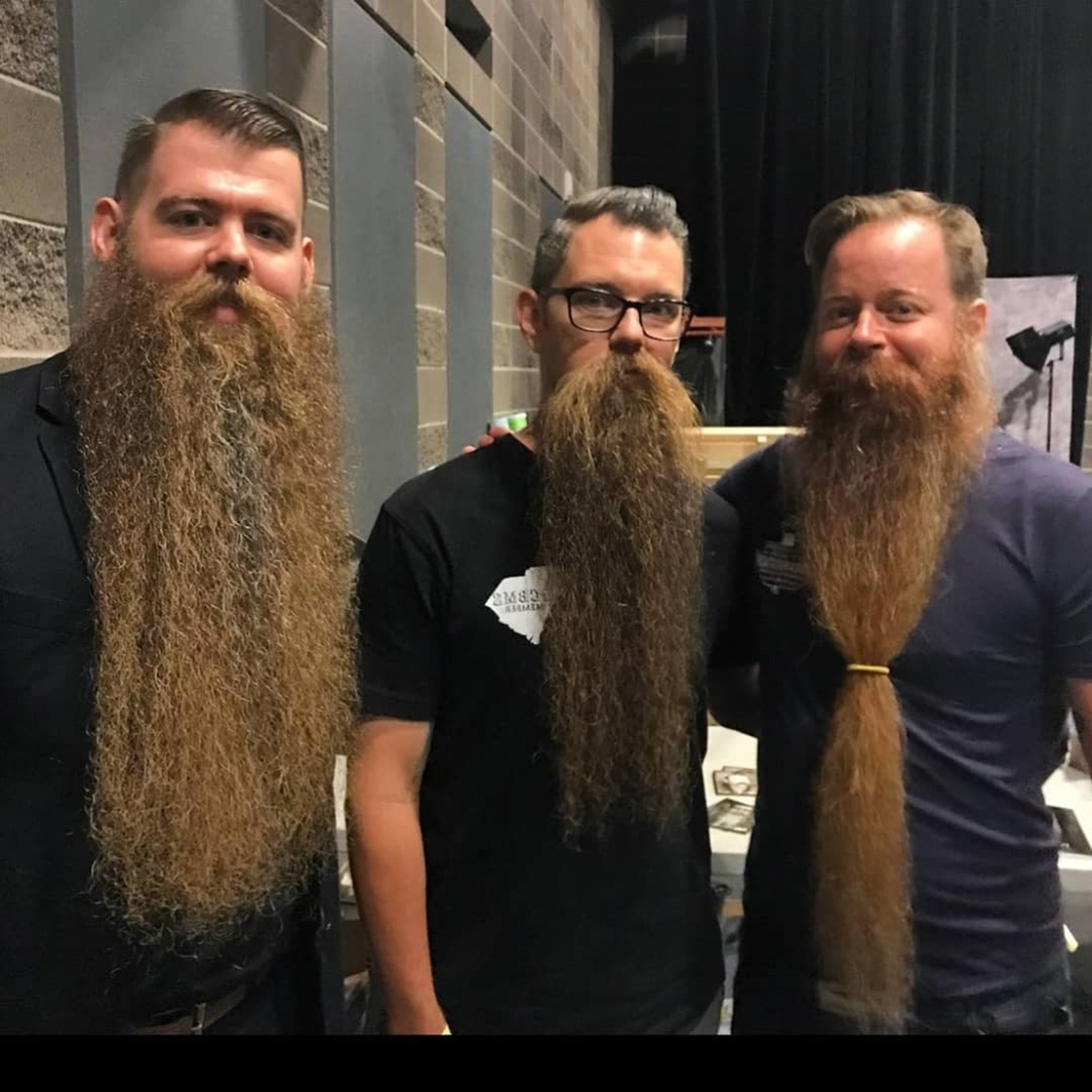 A long silky beard style for men.