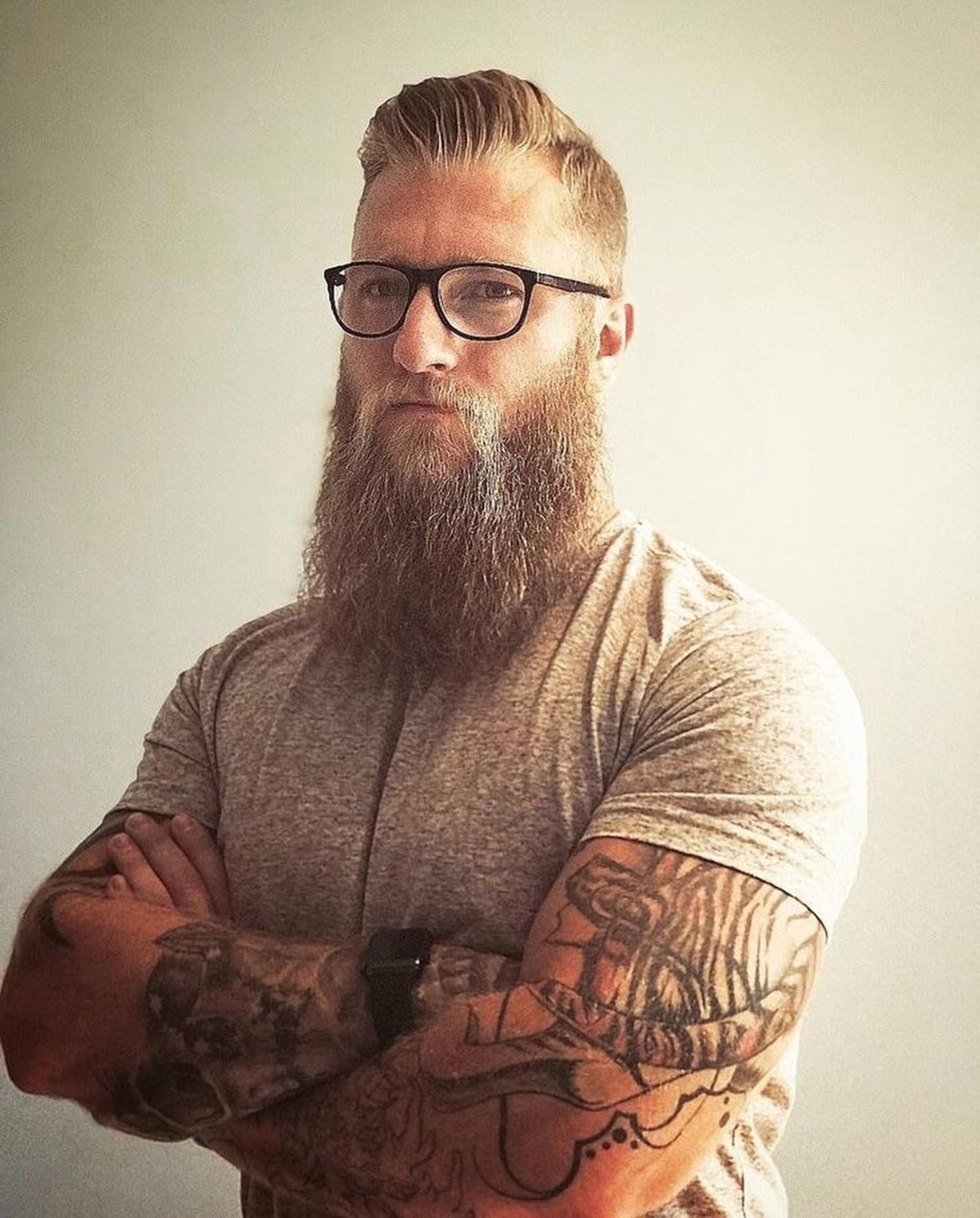 A long sparse beard for mature men.