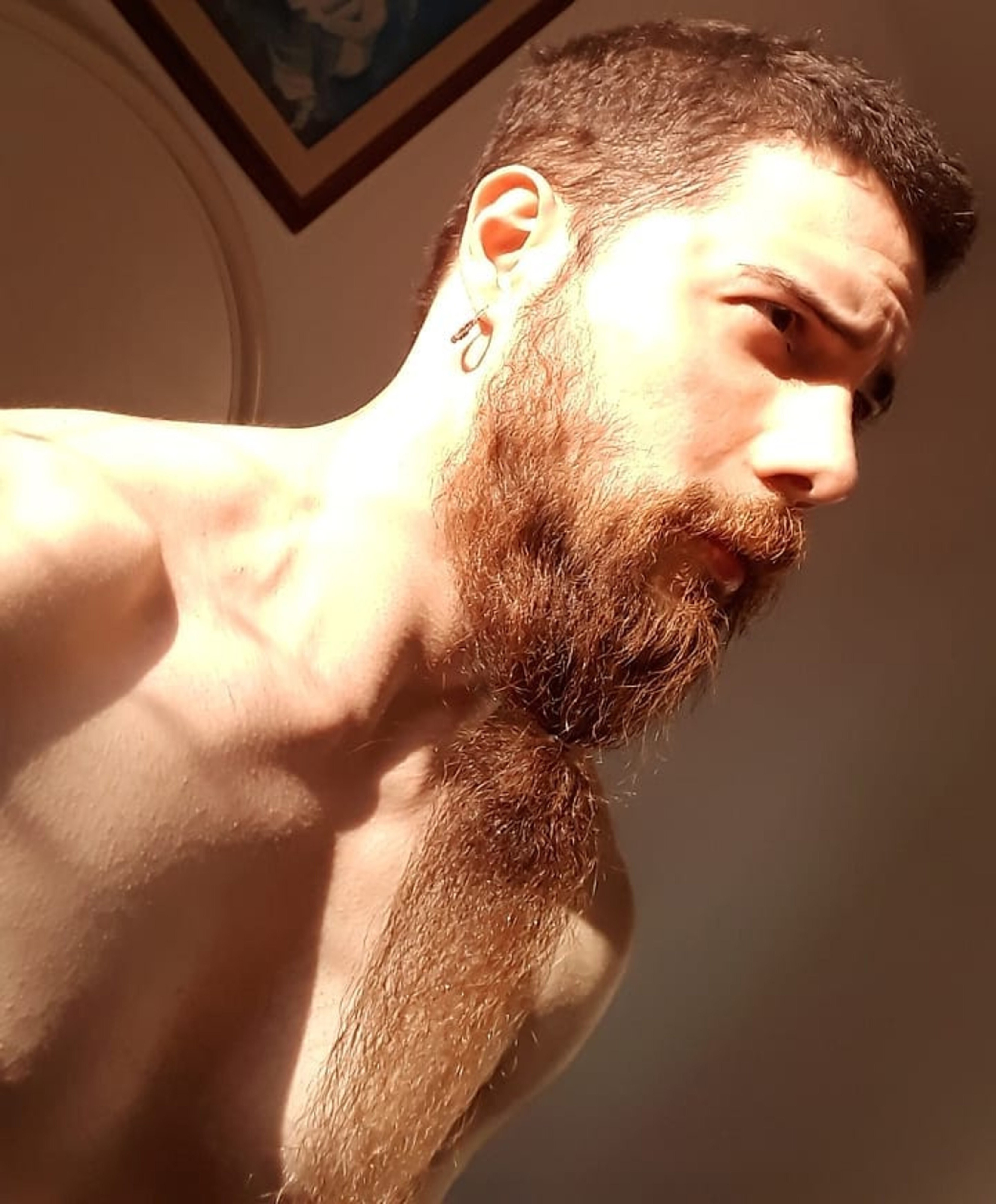 A long straight beard for your elegant look.