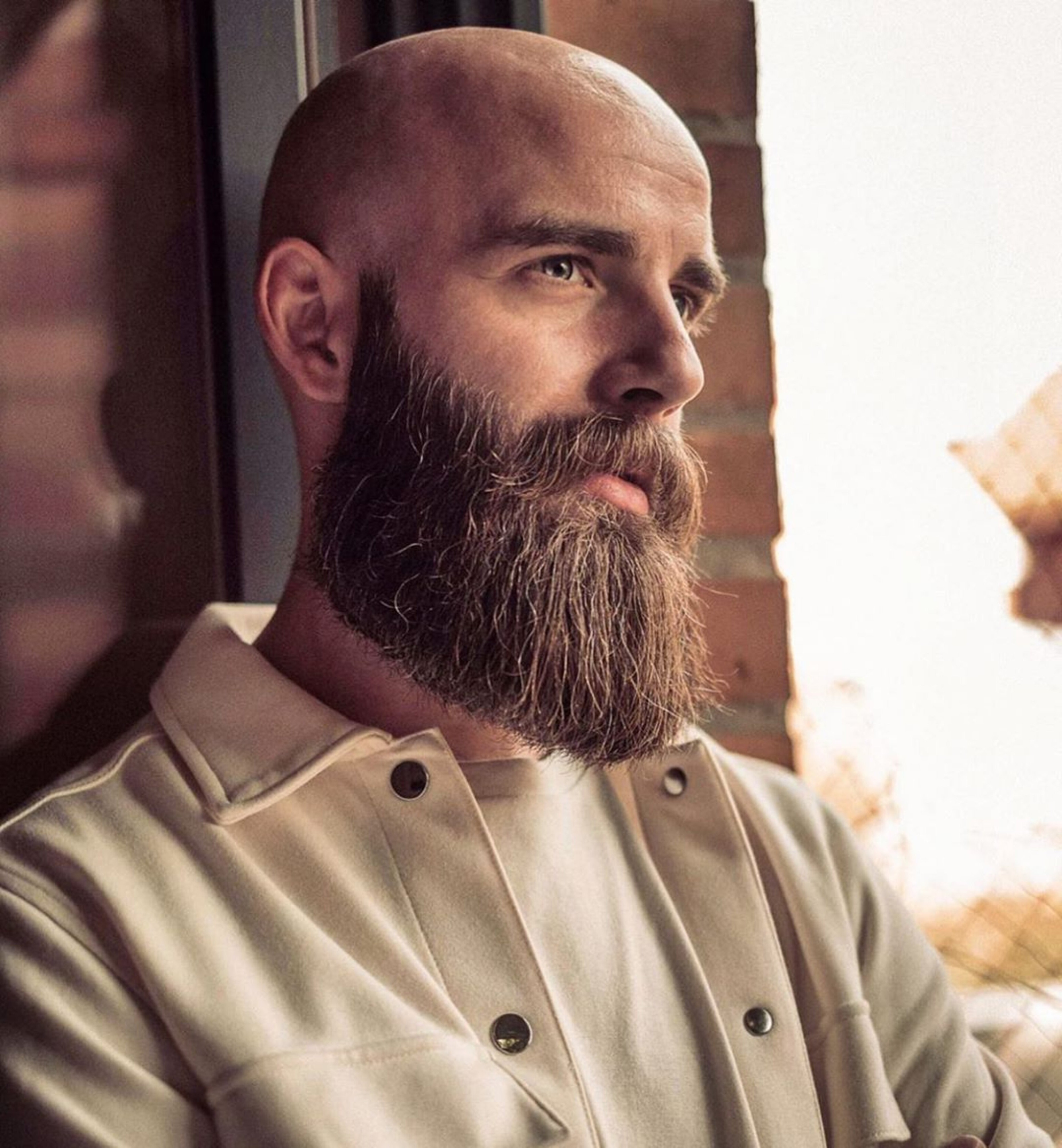A long wispy beard for trendy males.