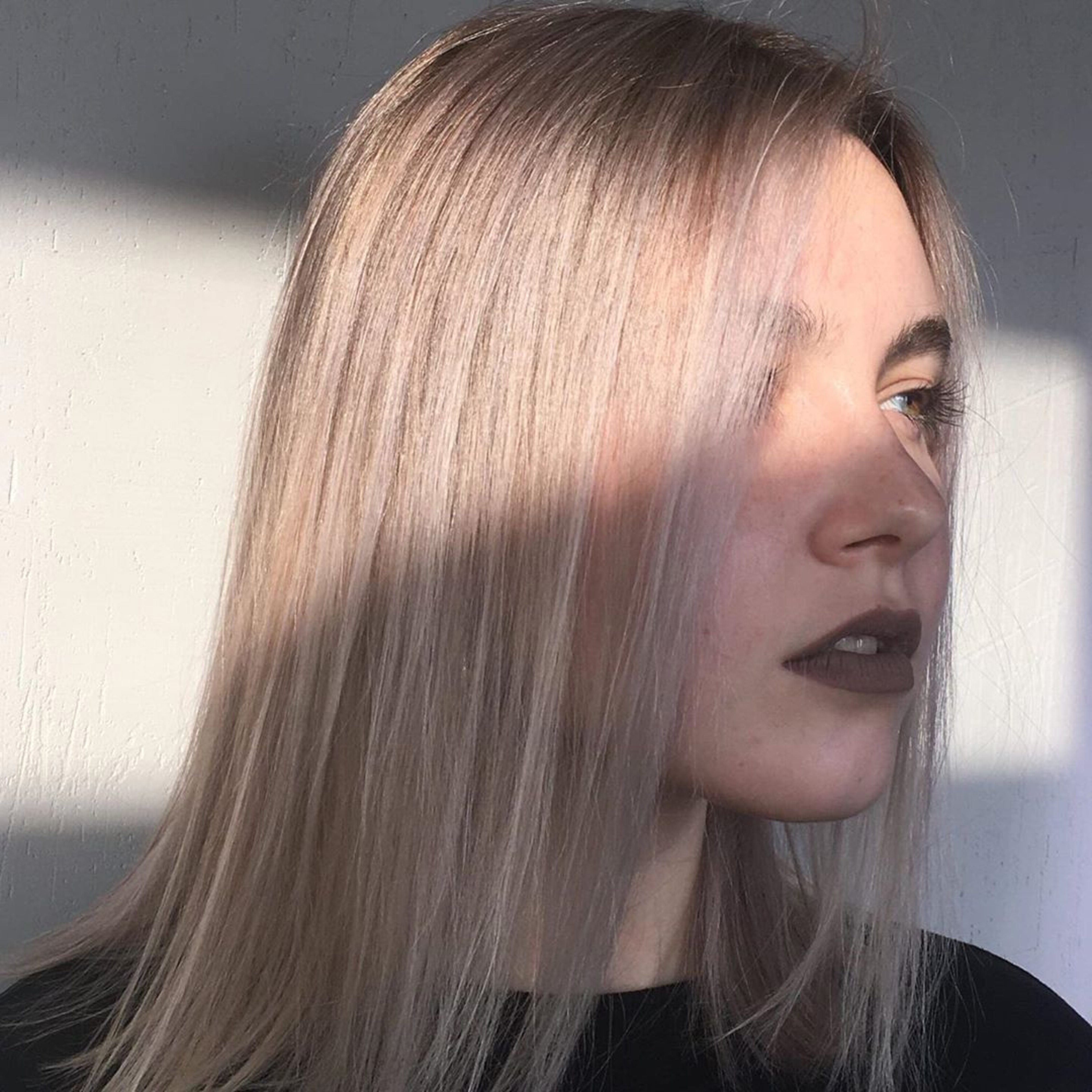 A bob cut for straight hair type.