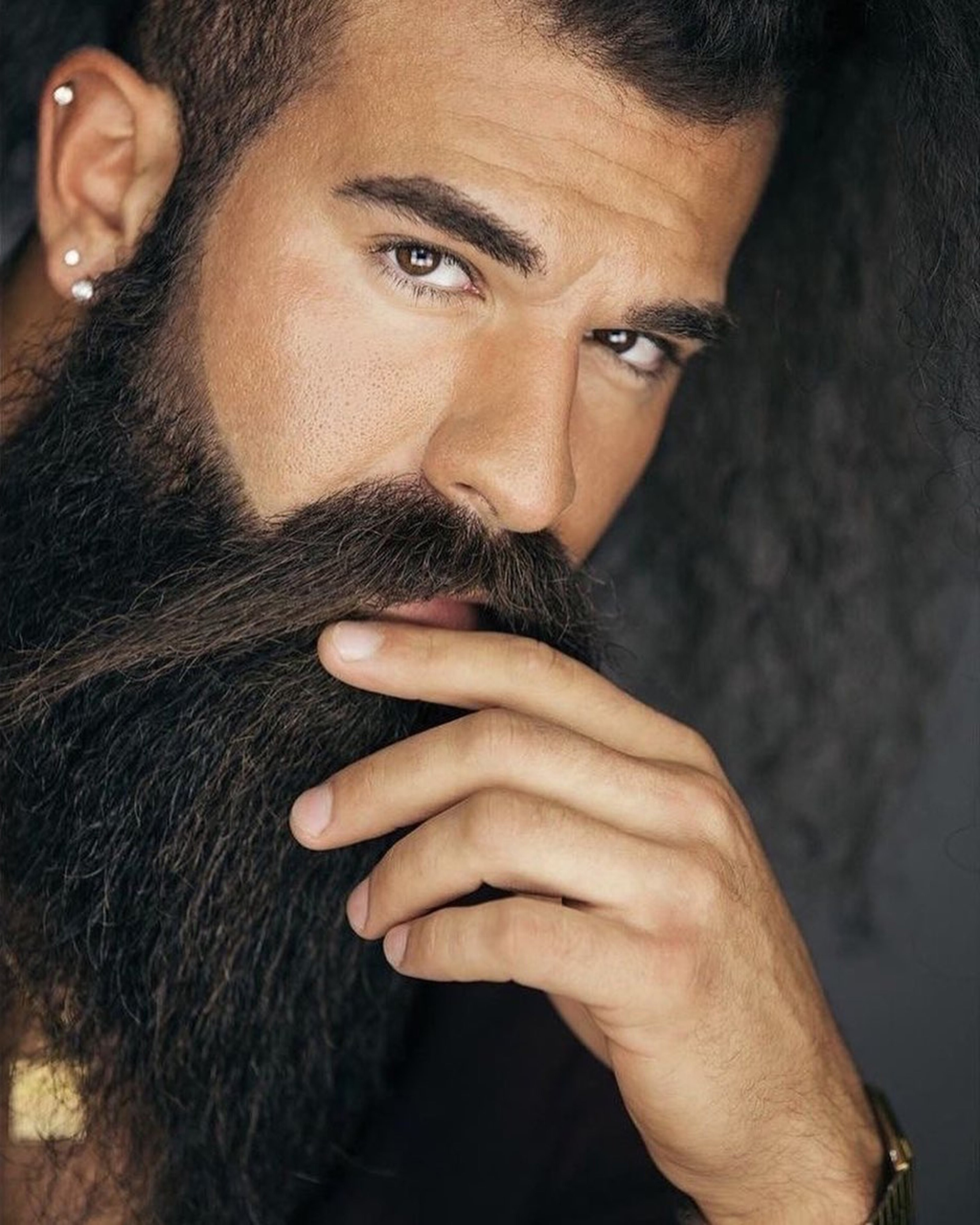A super long beard for your cool look.