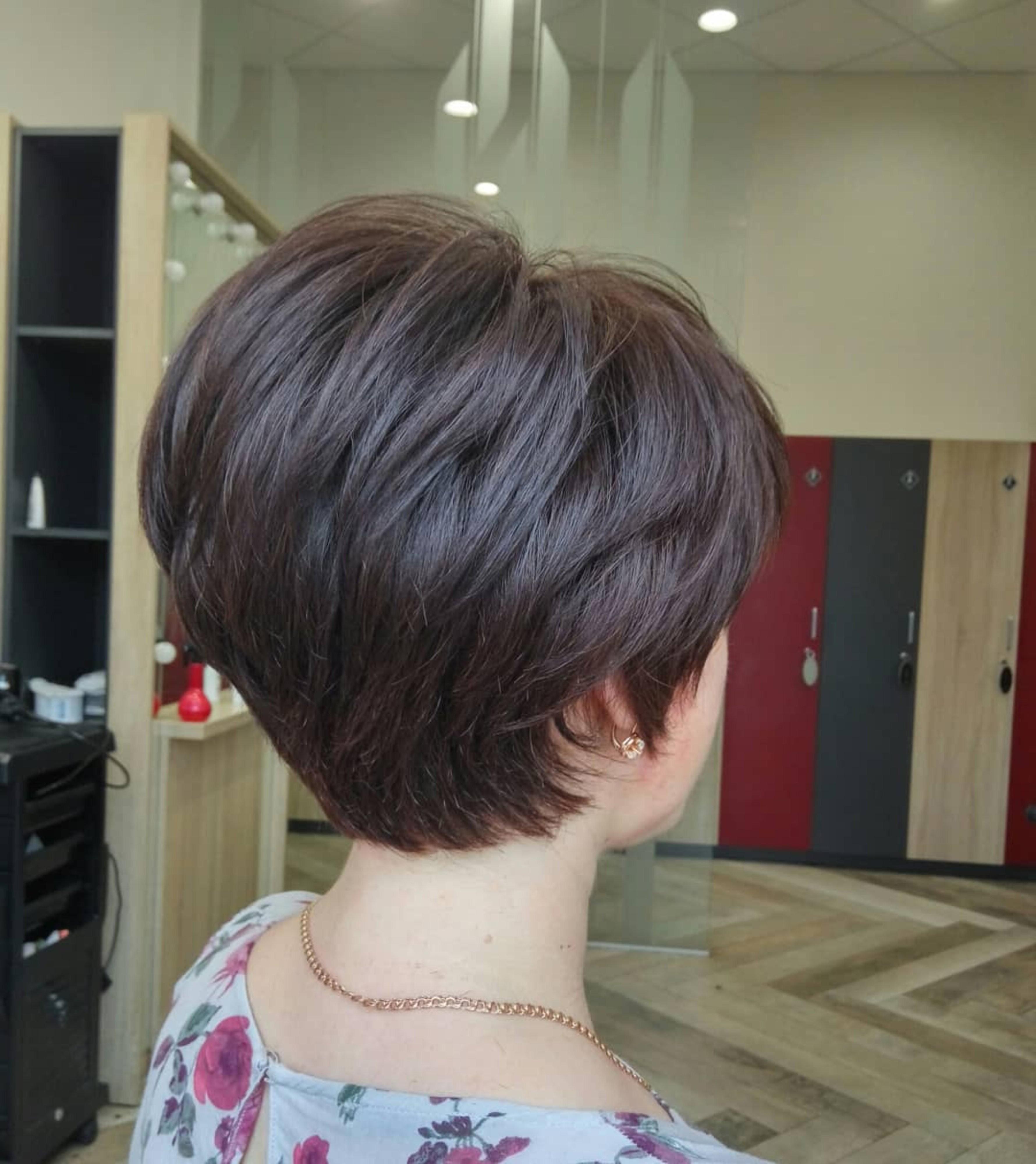 A bob for thin hair texture.