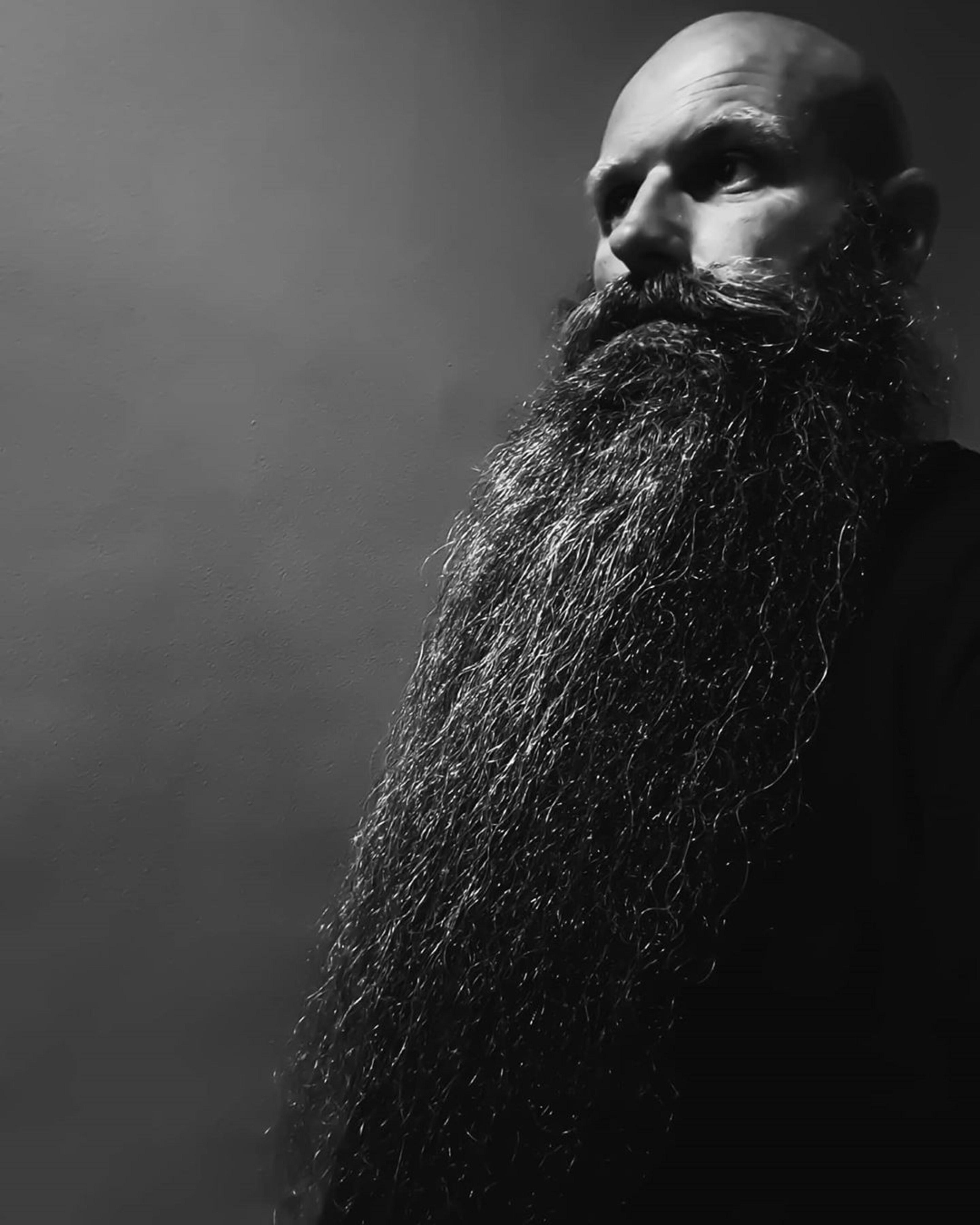 A long beard in the wizard style.