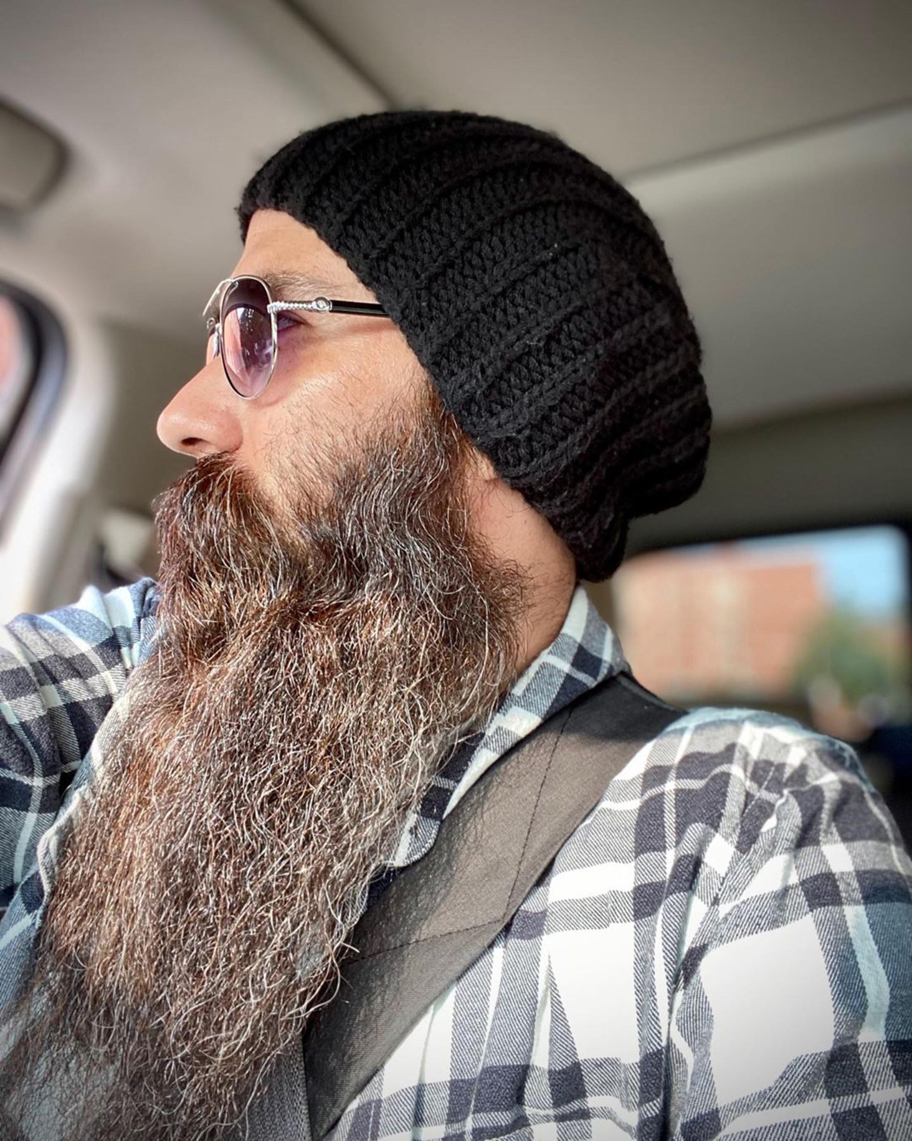 A long chin beard for stylish men.