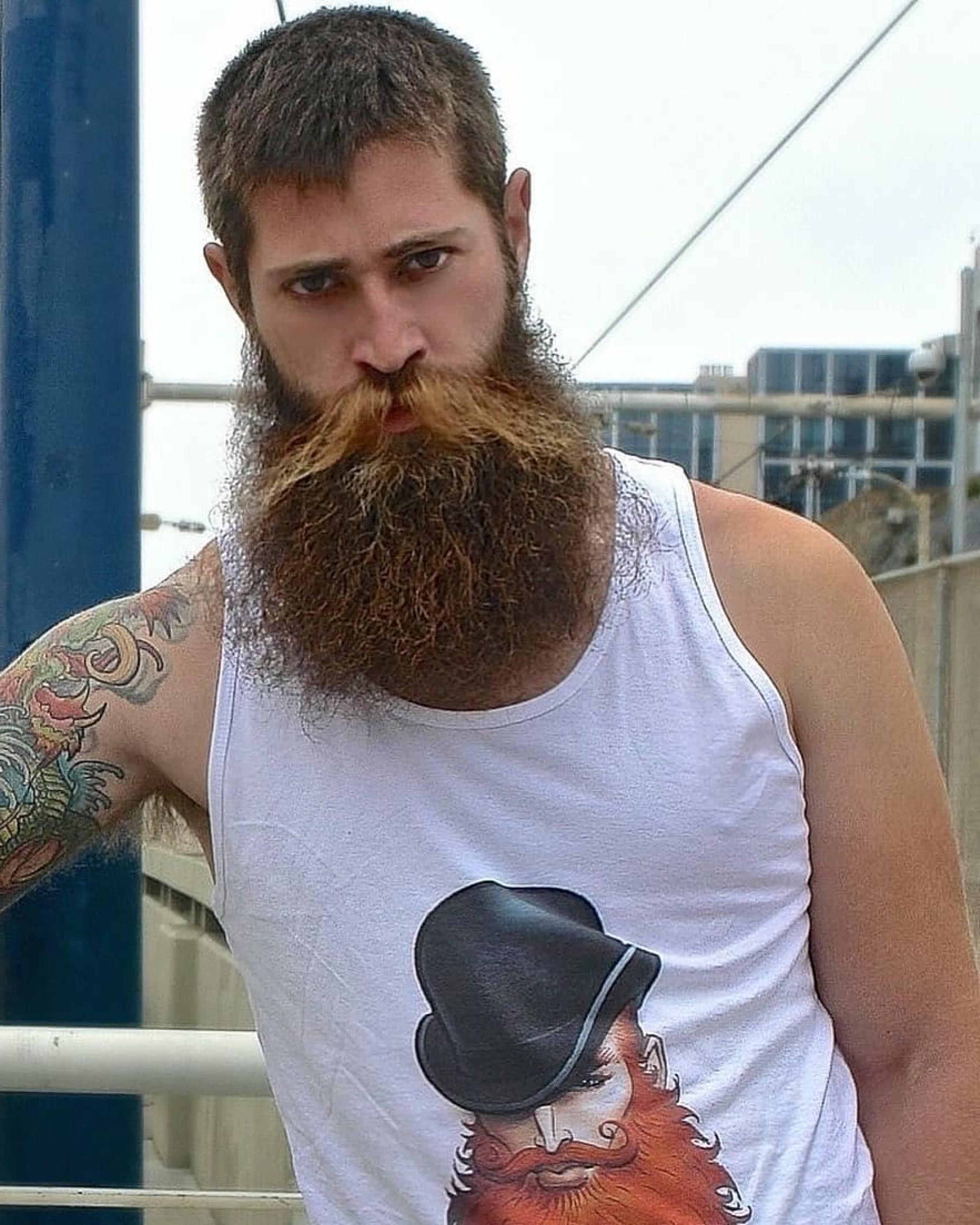 A long scruffy beard style.