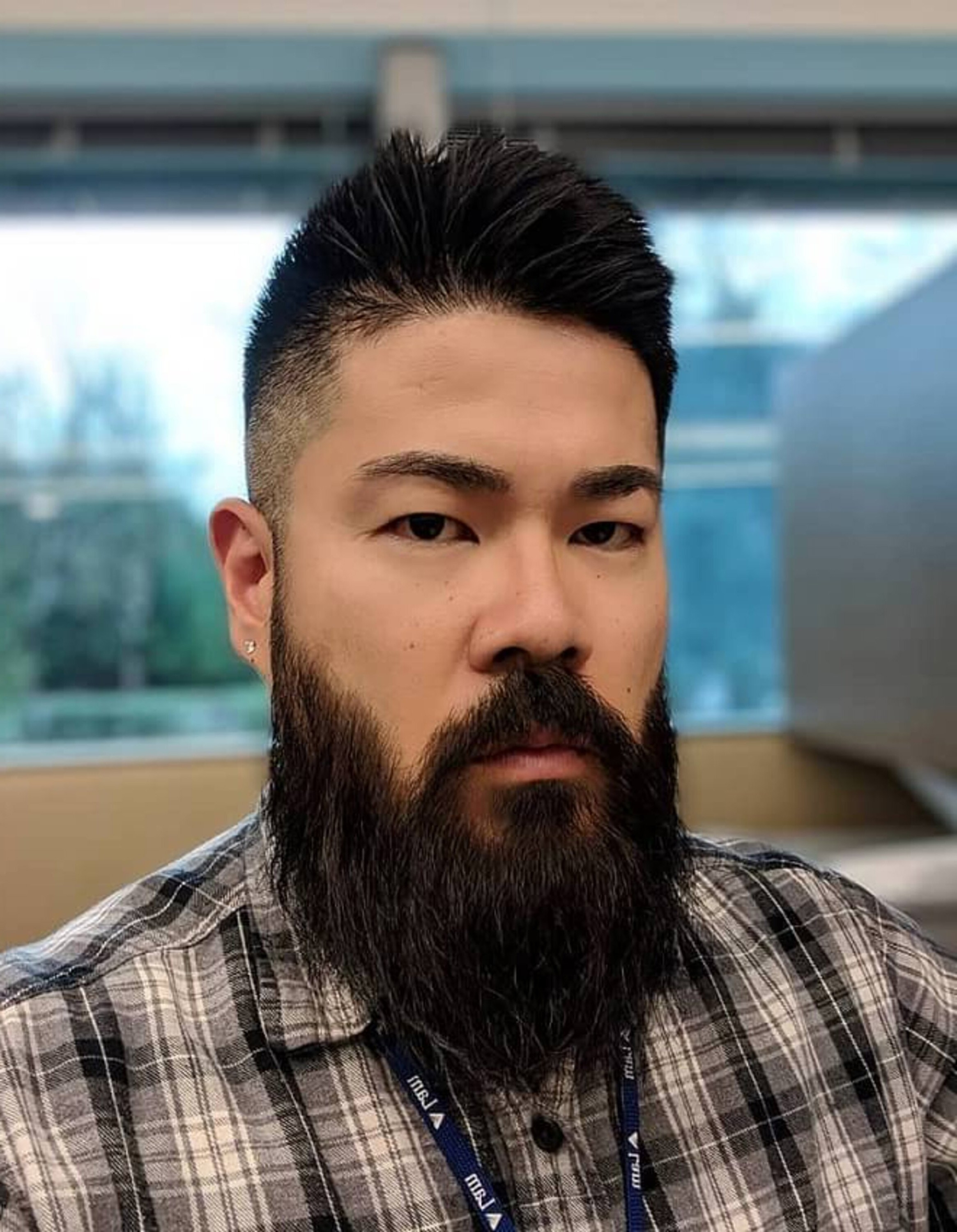 A full beard for Asian men.