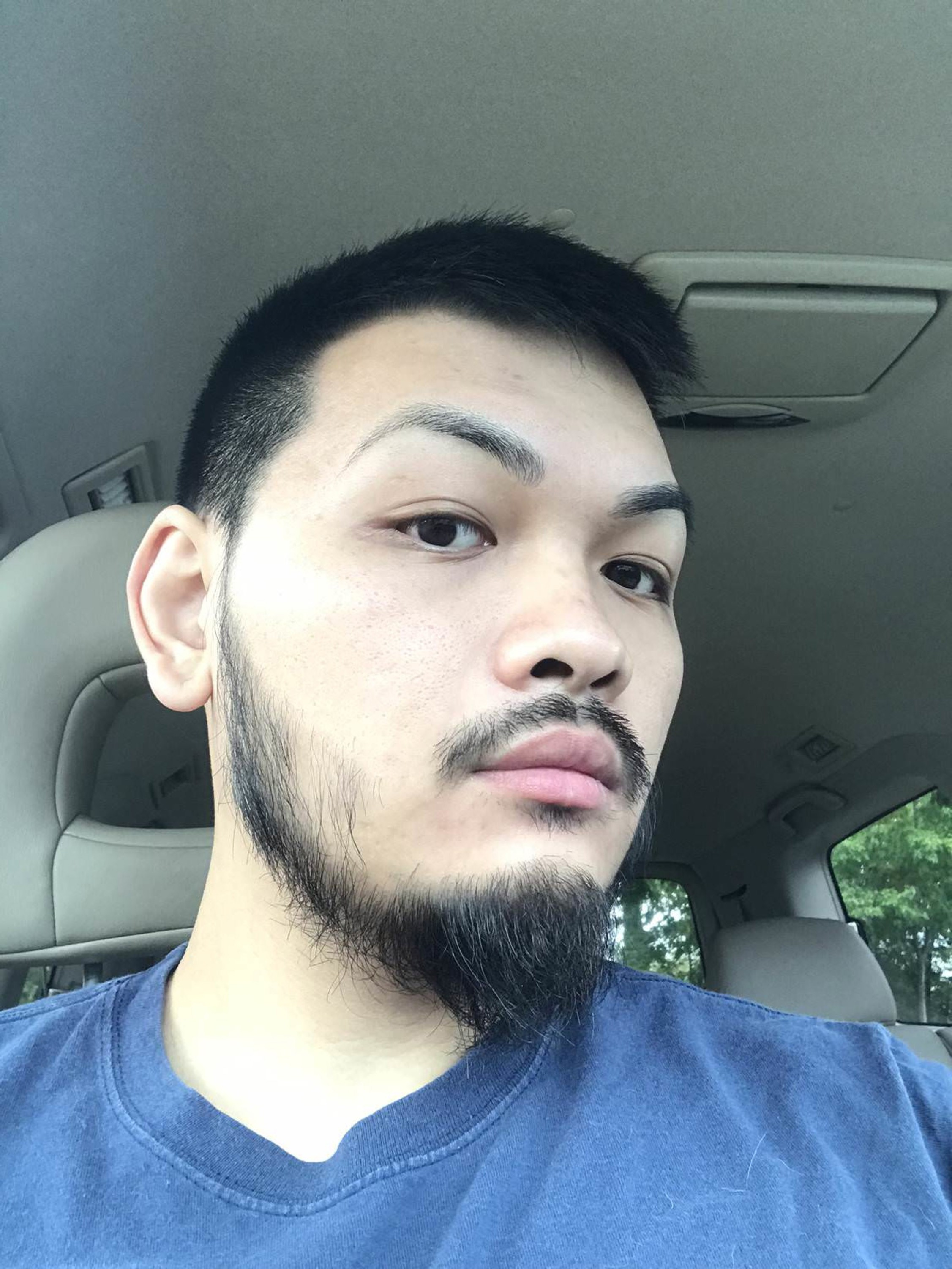 A short beard for Asian men.