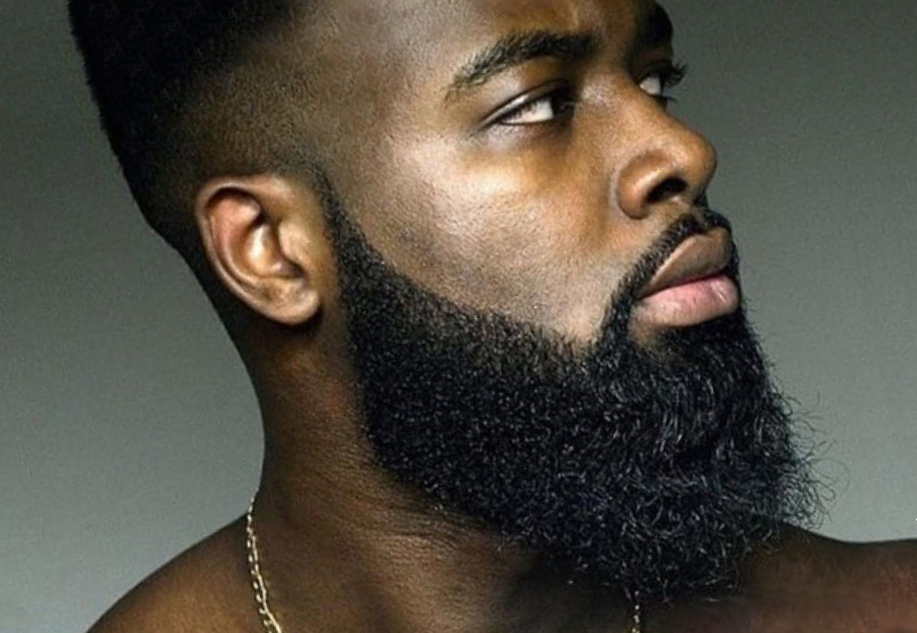 A full beard for African-Americans.
